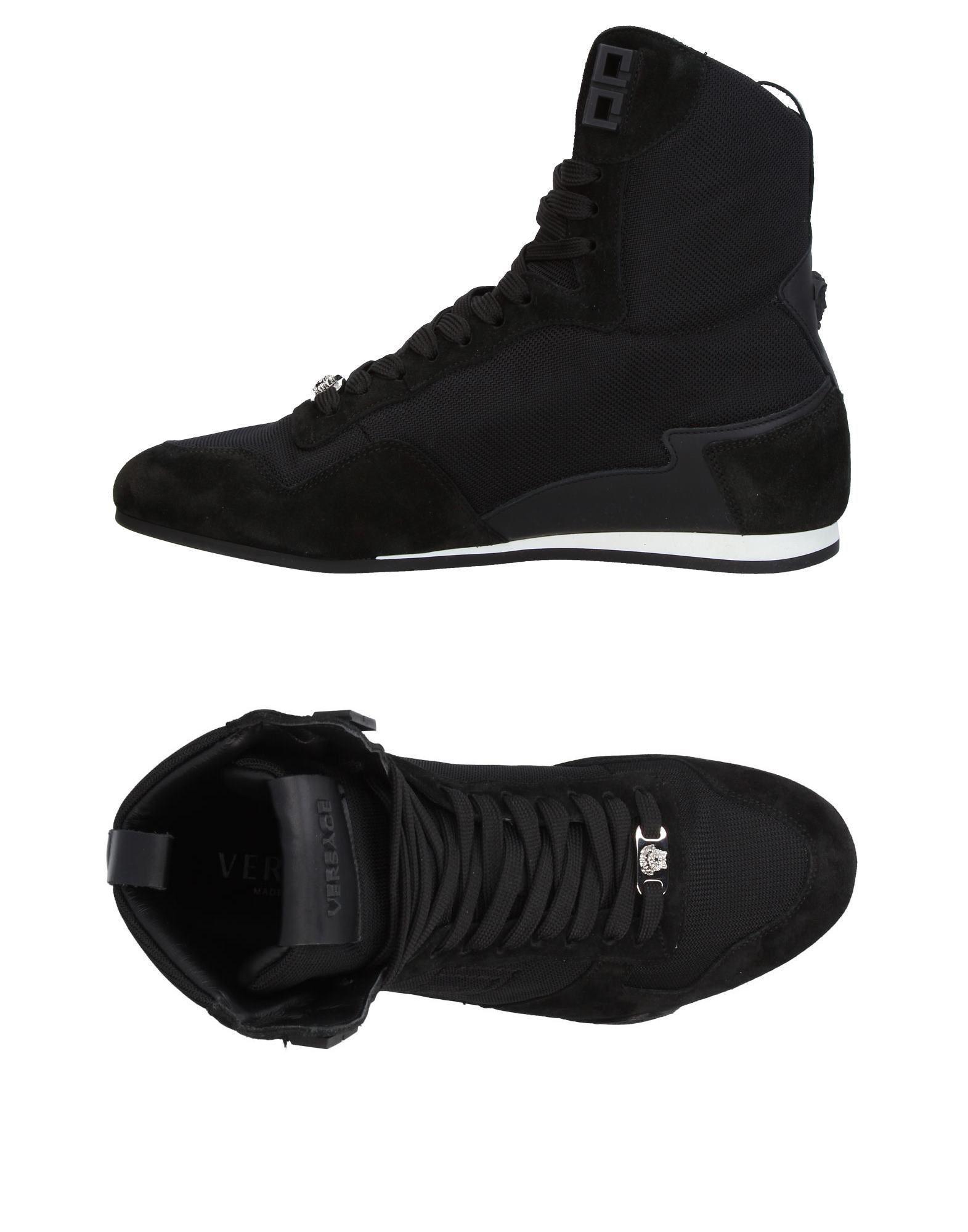 Versace - Black Sneakers   Tennis montantes for Men - Lyst. Afficher en  plein écran 88528b8d752