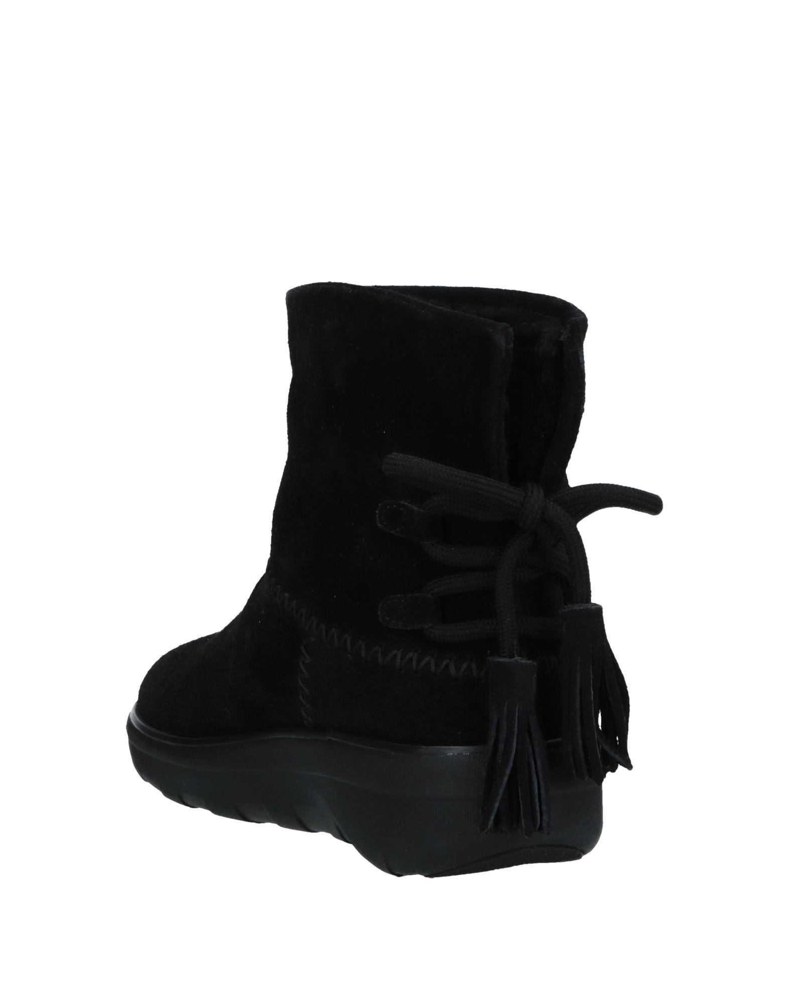 Botines de caña alta Fitflop de Cuero de color Negro