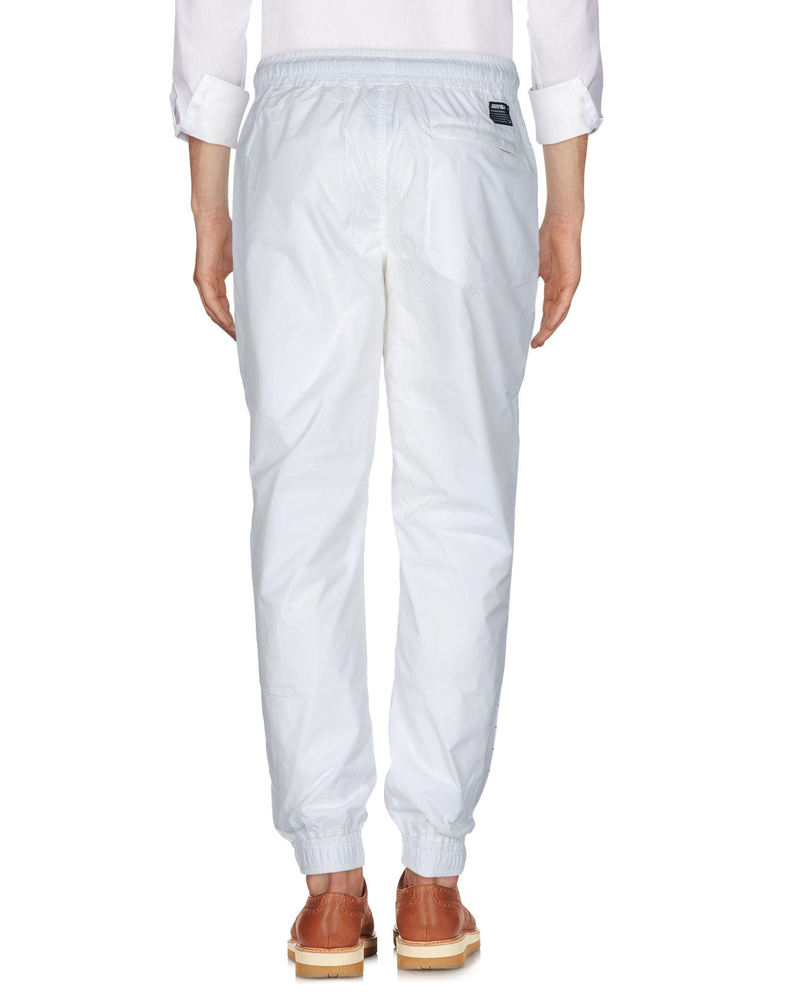 Supra Synthetic Casual Pants in Ivory (White) for Men