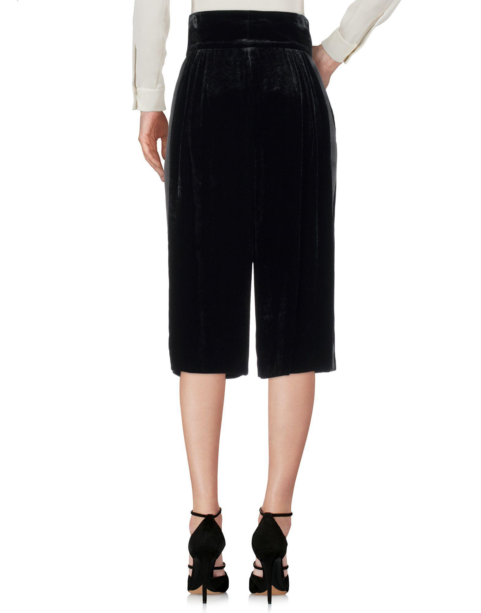 Jupe mi-longue Dolce & Gabbana en coloris Noir