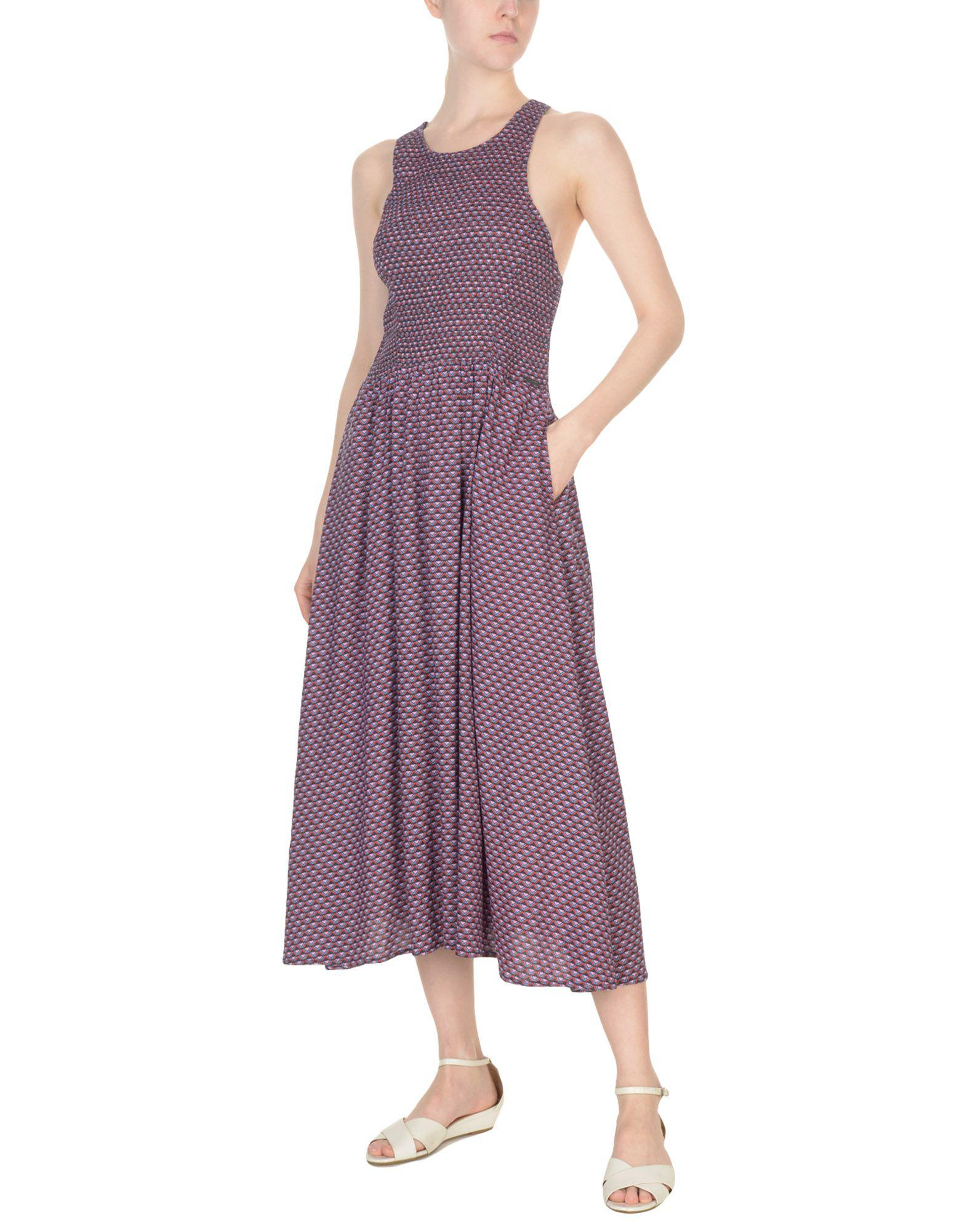 Pepe Jeans Synthetic 3/4 Length Dress in Pink