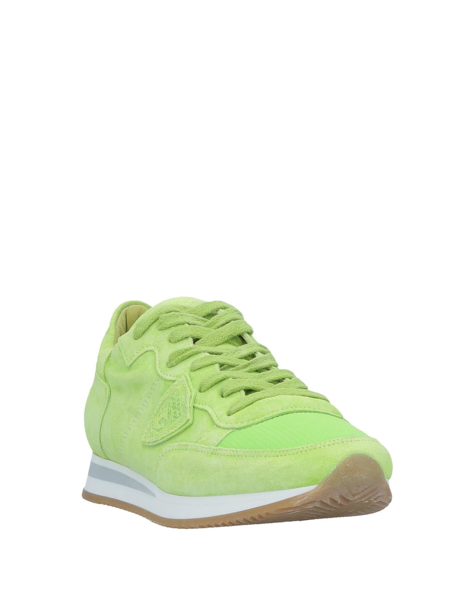 Philippe Model Suede Low-tops & Sneakers in Acid Green (Green)