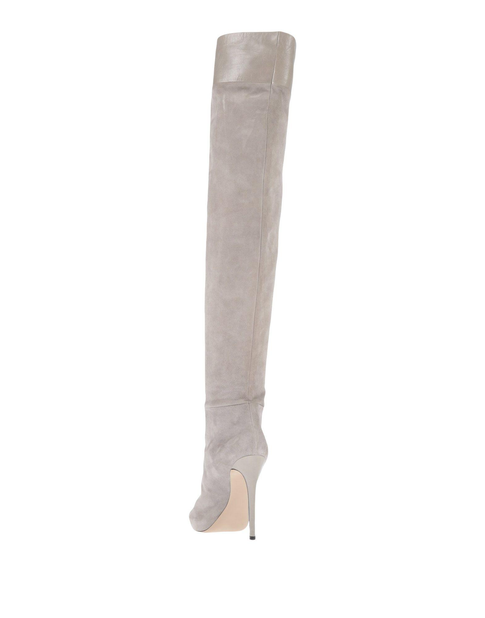 Diego Dolcini Leather Boots in Light Grey (Grey)