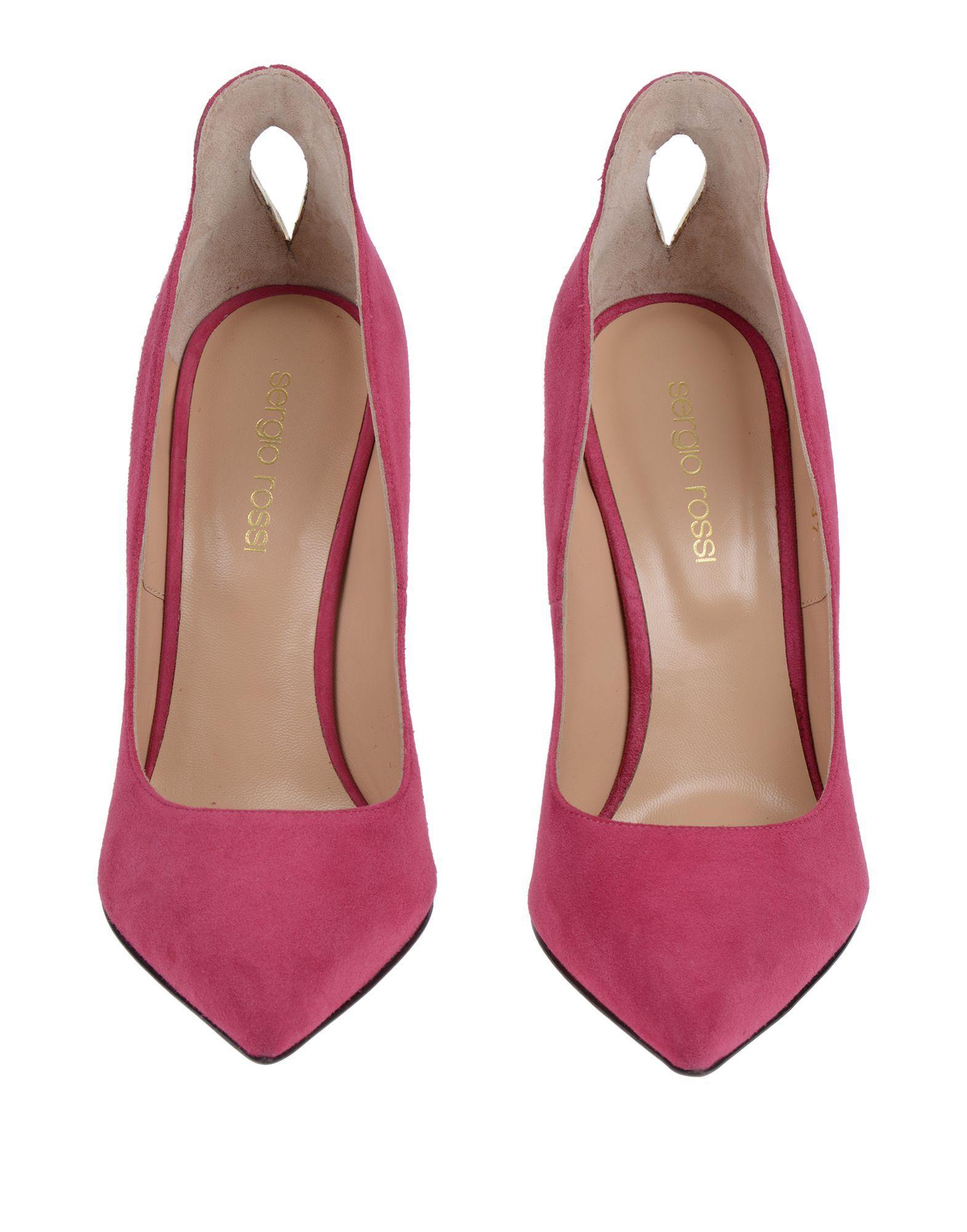 Zapatos de salón Sergio Rossi de Cuero de color Rosa