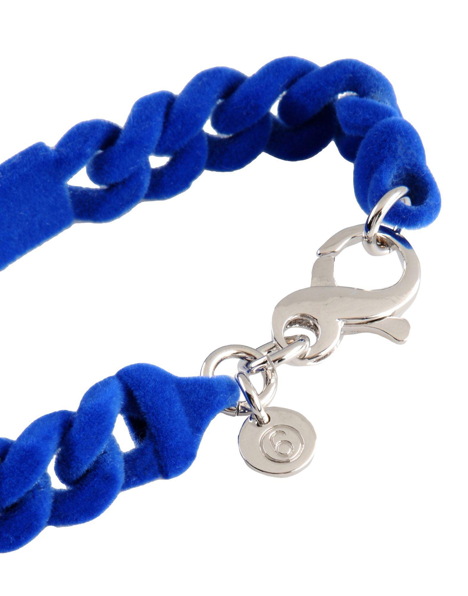 Bracelet Velours MM6 by Maison Martin Margiela en coloris Bleu 9BRs