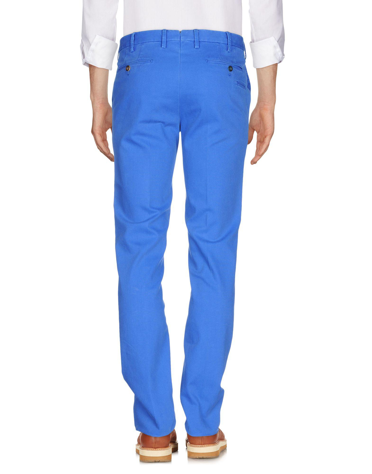 PT Torino Cotton Casual Pants in Bright Blue (Blue) for Men