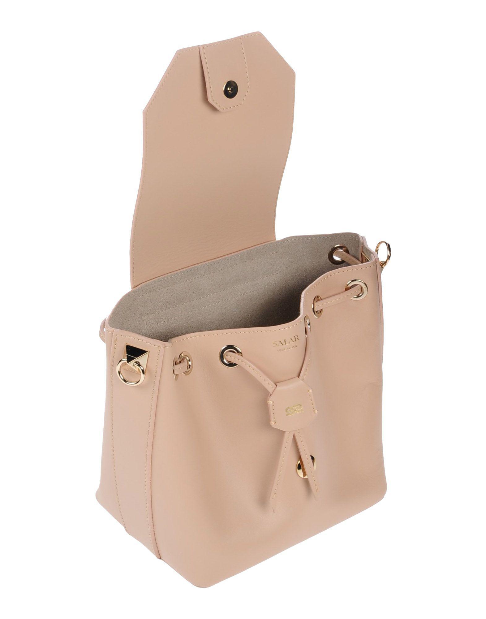 Salar Leather Cross-body Bag in Beige (Natural)