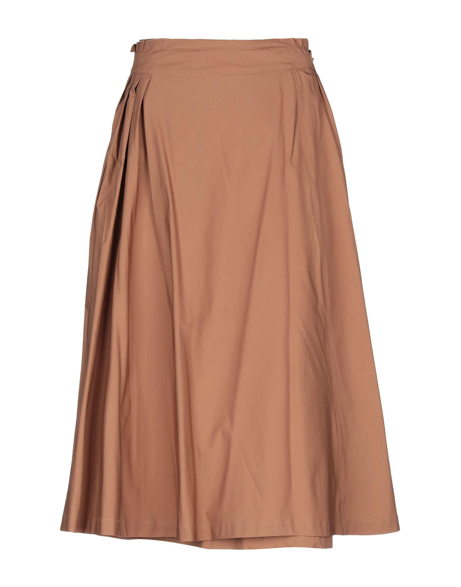 69396fd55 Roberto Collina 3/4 Length Skirt in Brown - Lyst