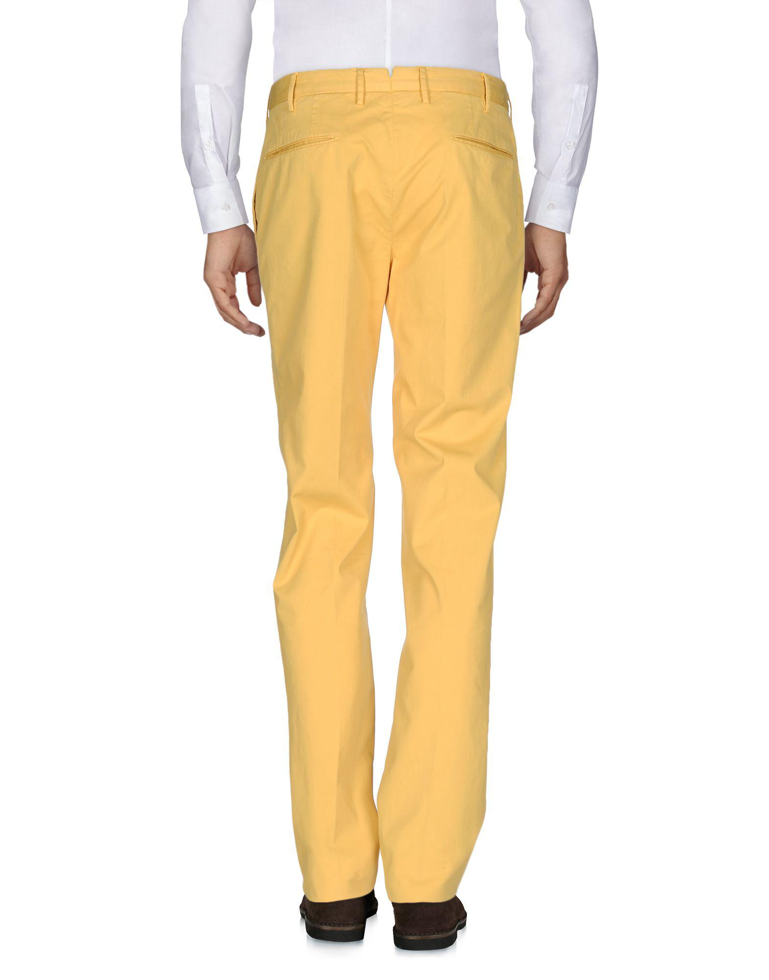 Incotex Cotton Casual Pants in Yellow (Black) for Men