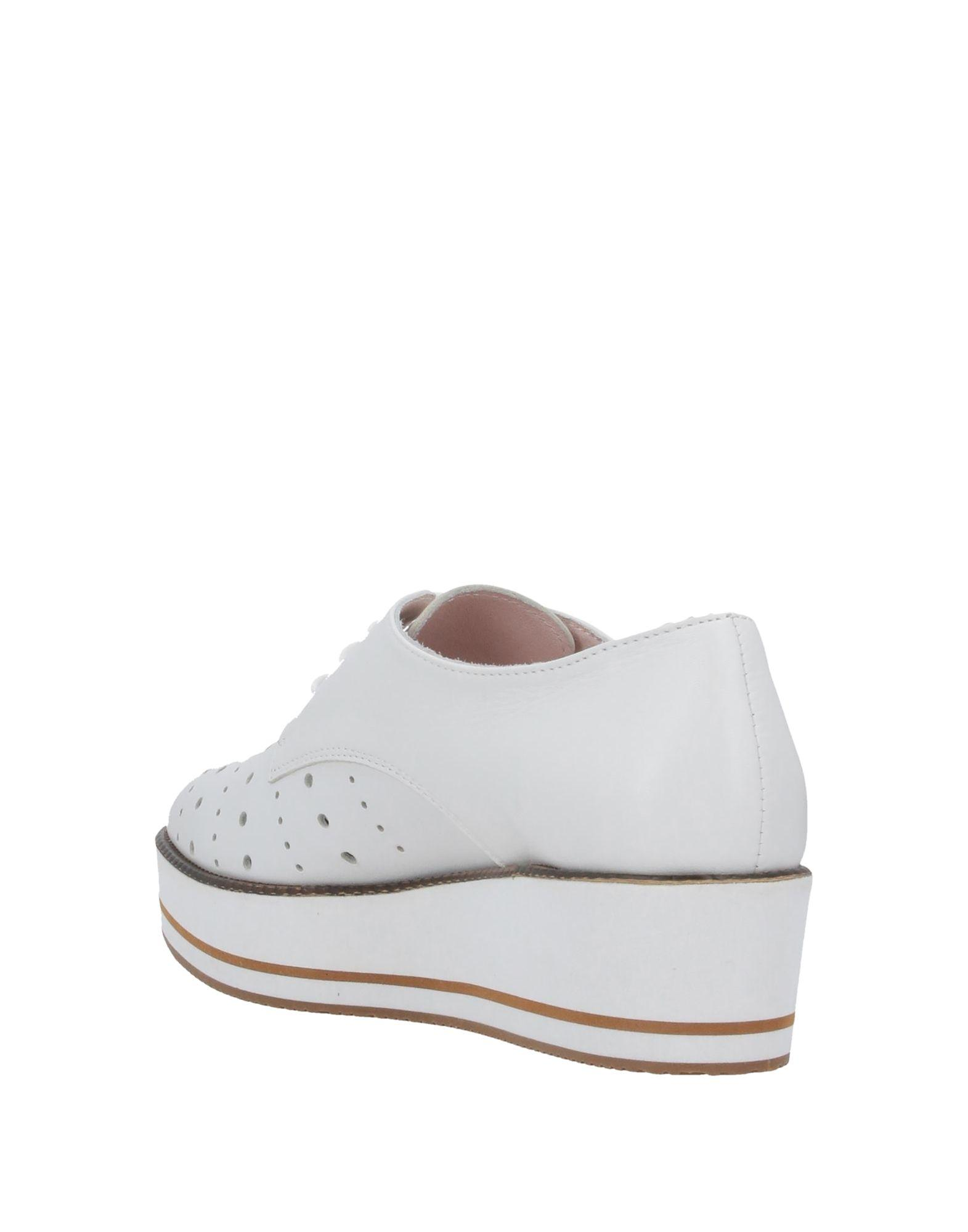 Zapatos de cordones Tosca Blu de Cuero de color Blanco