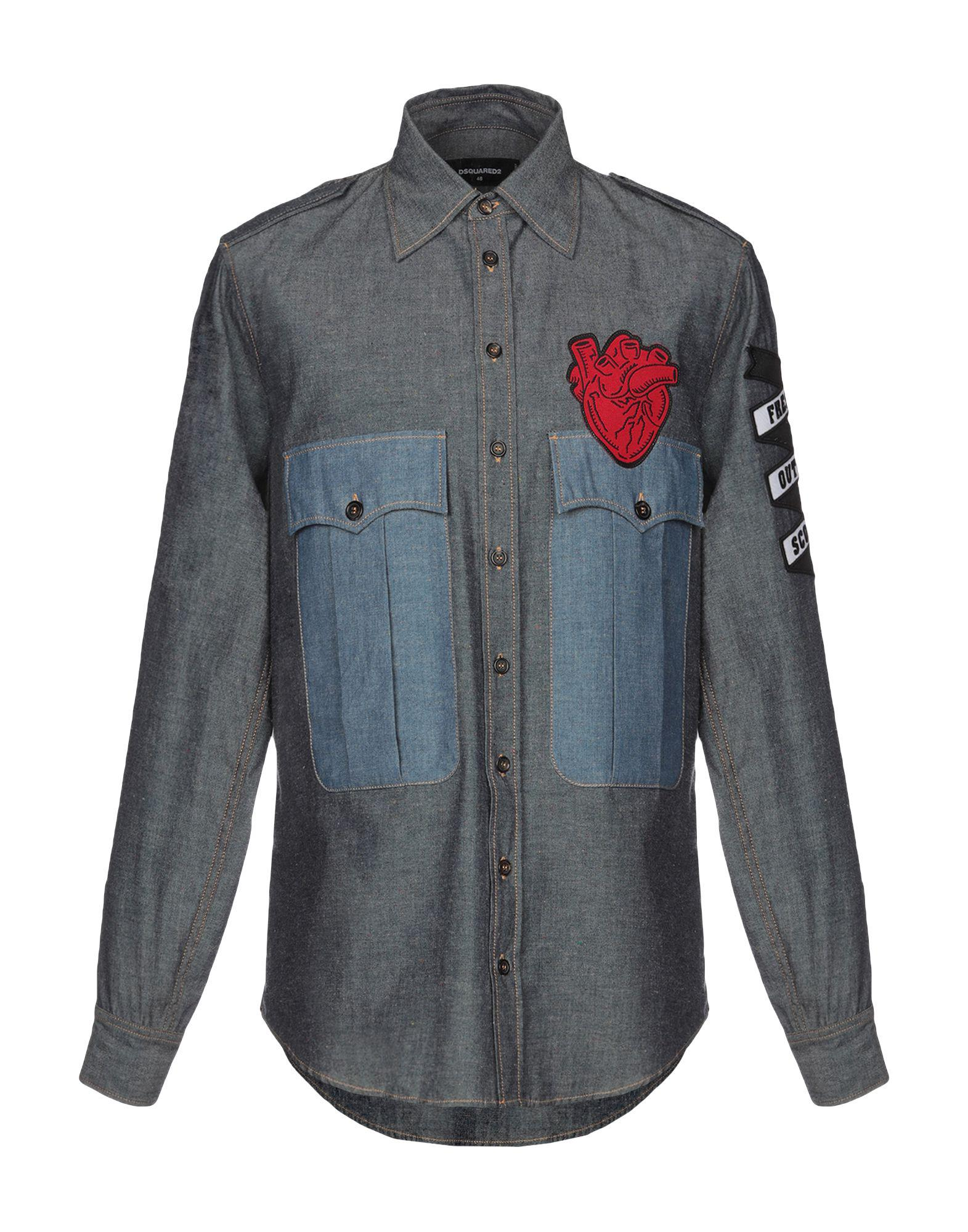d30eb80378 Lyst - DSquared² Denim Shirt in Blue for Men - Save 20%