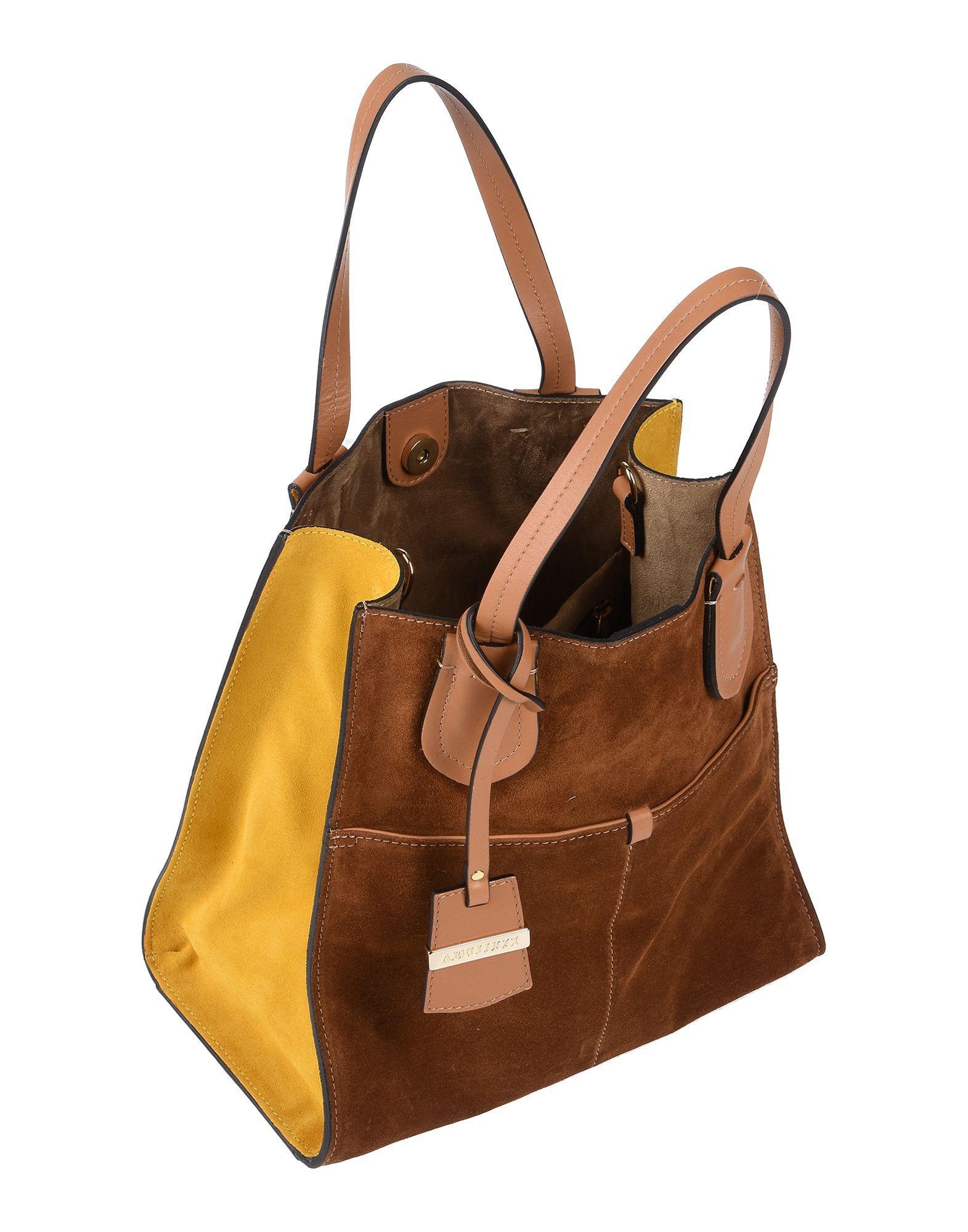 Ab Asia Bellucci Wildleder Handtaschen in Braun nKRLl
