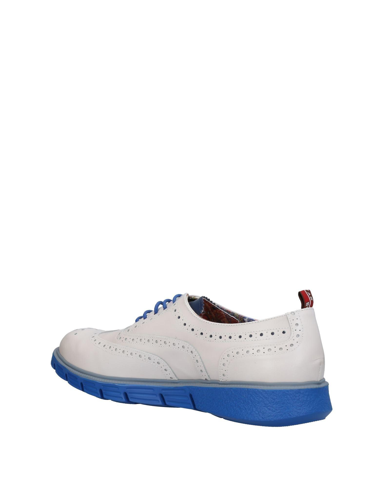 YAB Leather Lace-up Shoe in White for Men
