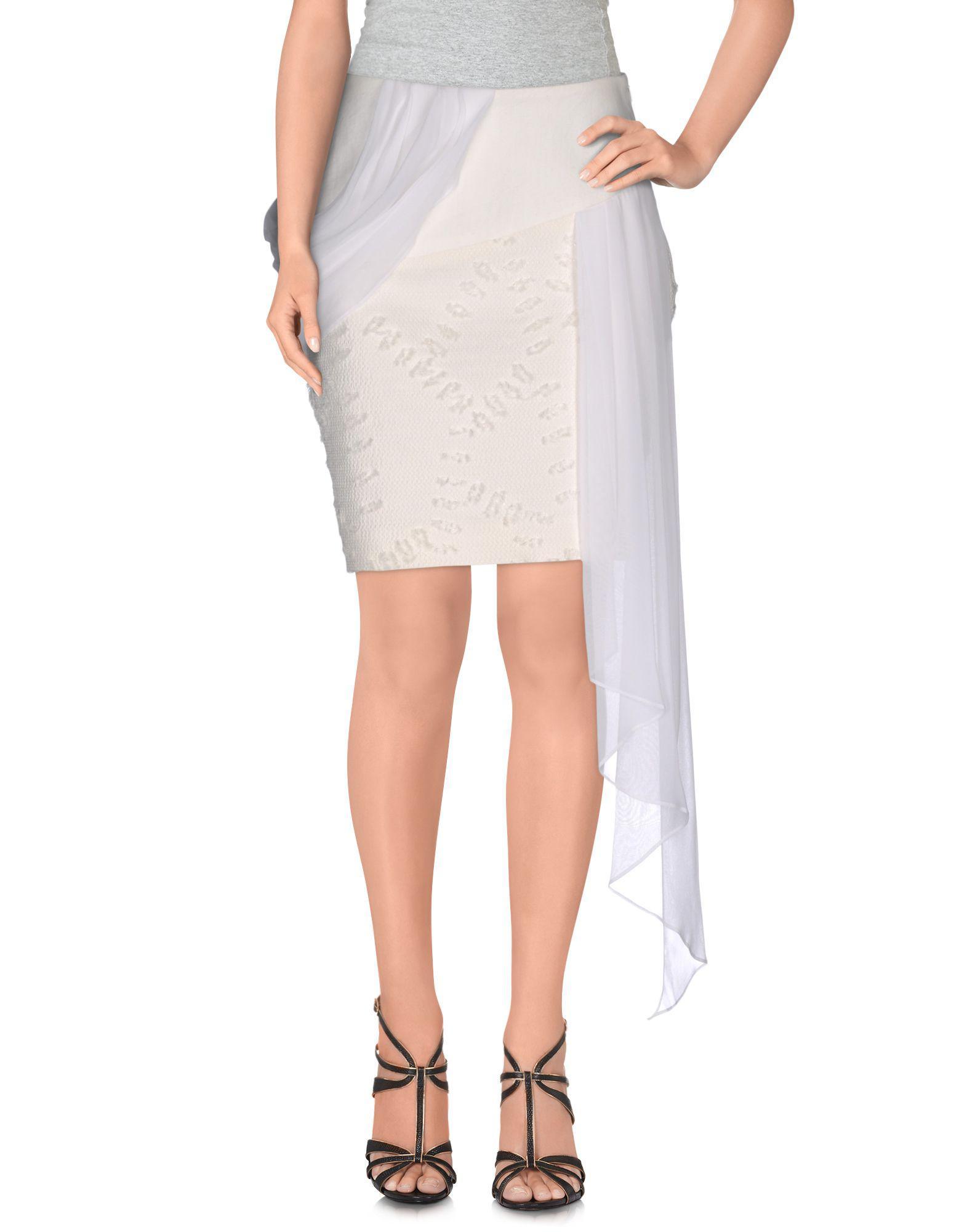 f940020846 Prabal Gurung Knee Length Skirts in White - Lyst