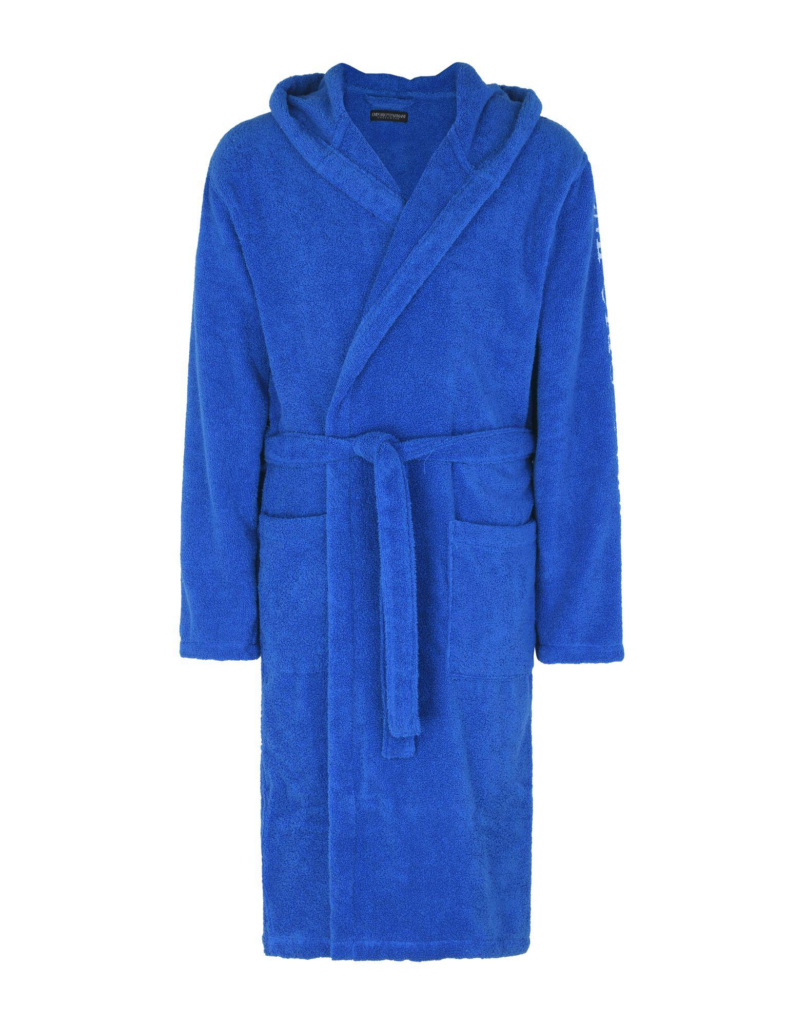 Emporio Armani Towelling Dressing Gown in Blue for Men - Lyst 5bfd645c6