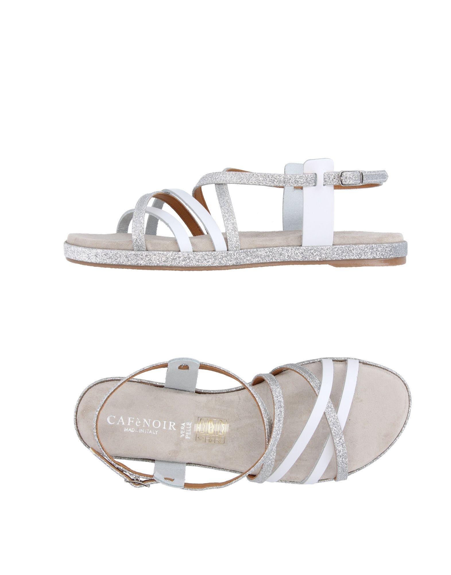CafeNoir. Women's White Sandals