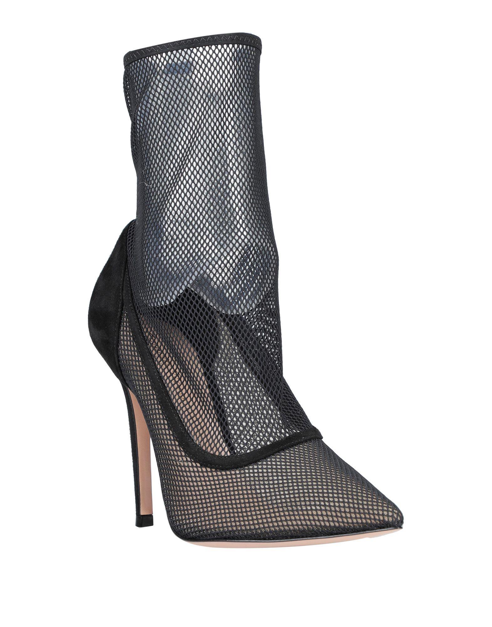Botines de caña alta Gianvito Rossi de Ante de color Negro