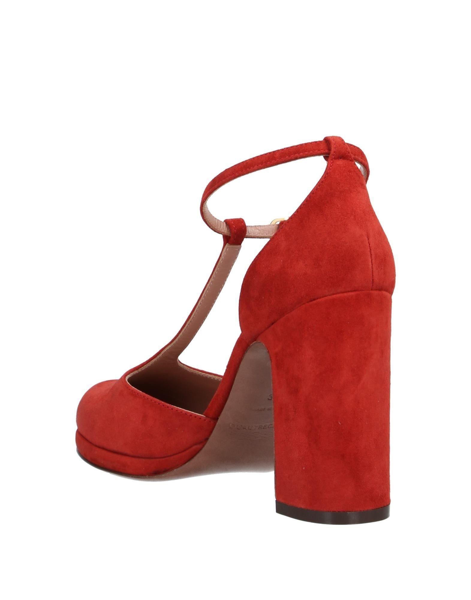 Zapatos de salón L'Autre Chose de Ante de color Rojo