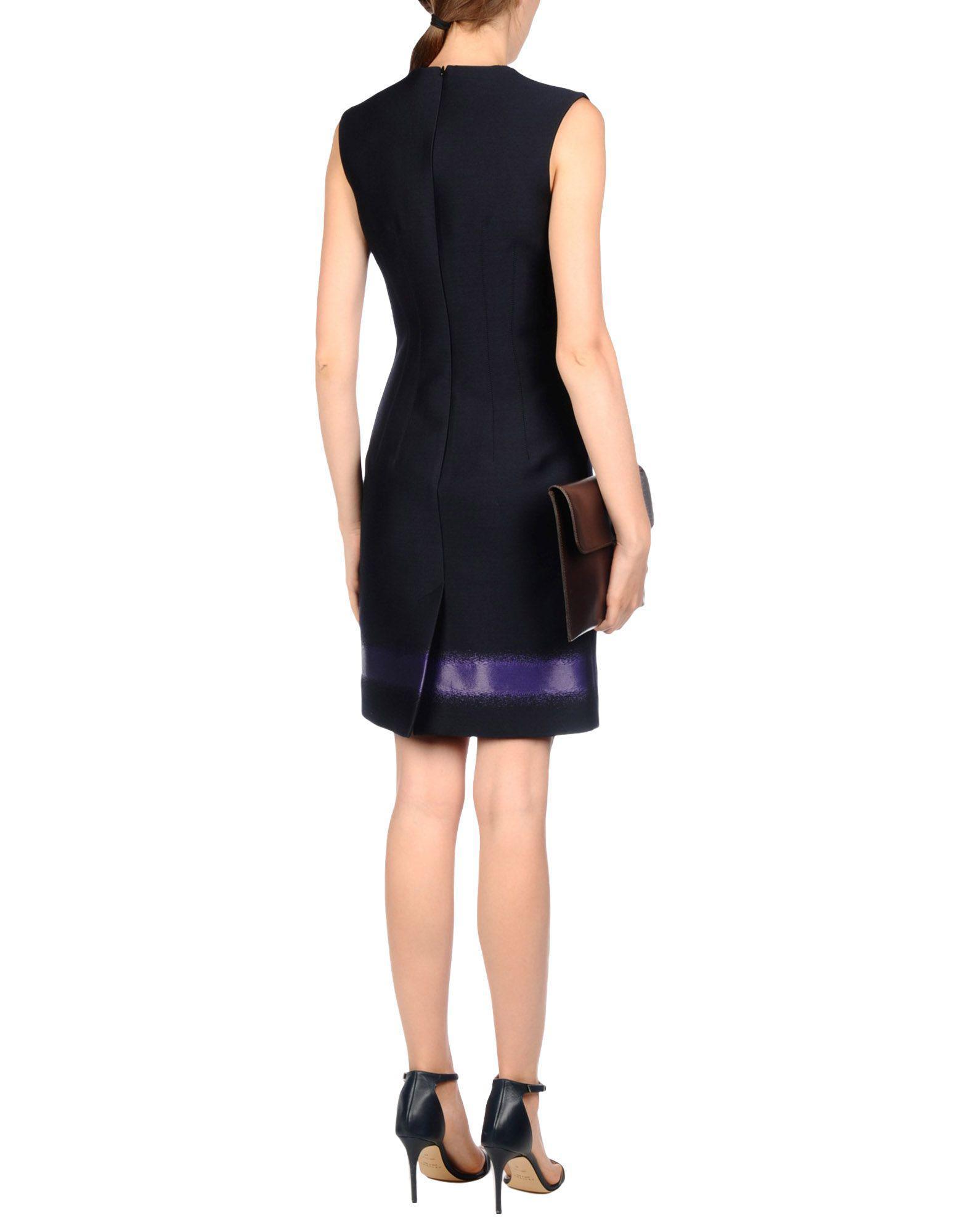 5ded4458479 Lyst - Balenciaga Short Dress in Blue
