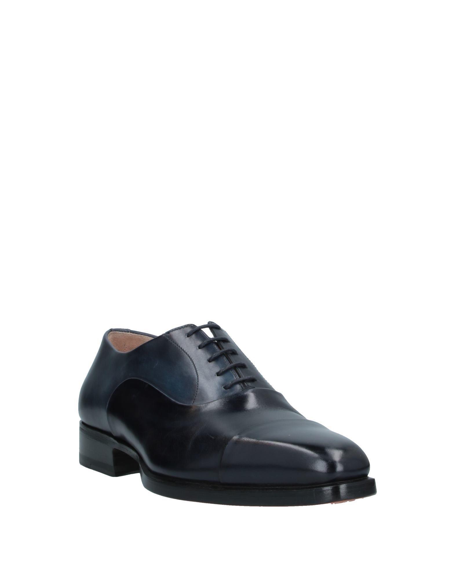 Zapatos de cordones Santoni de hombre de color Azul