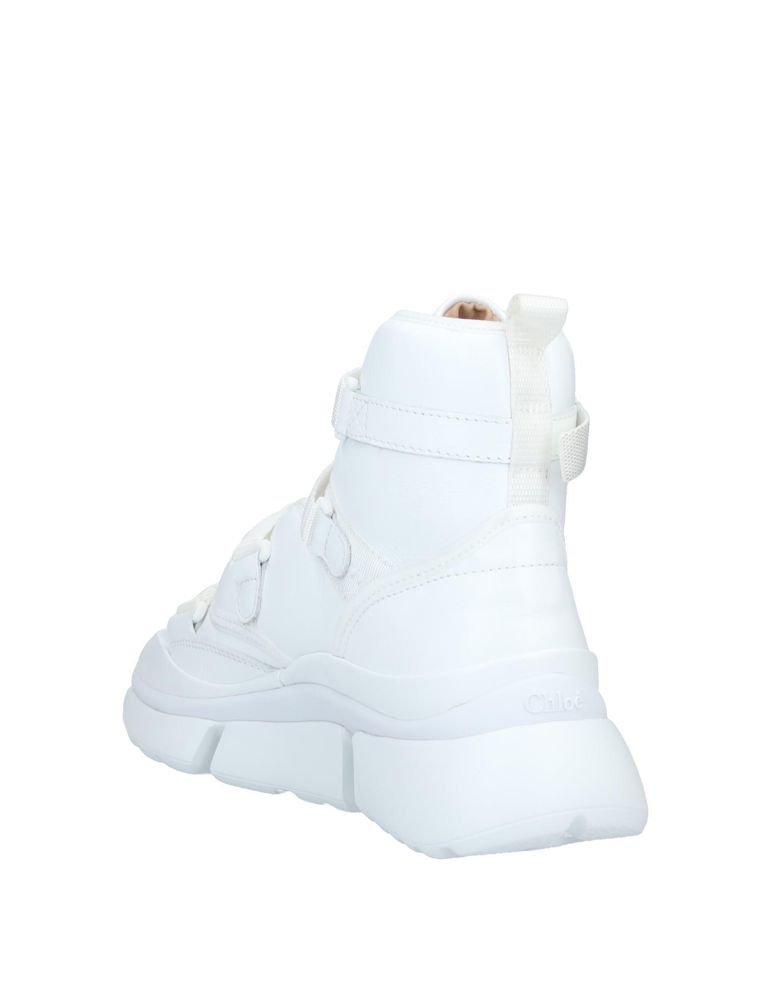 Sneakers abotinadas Chloé de color Blanco