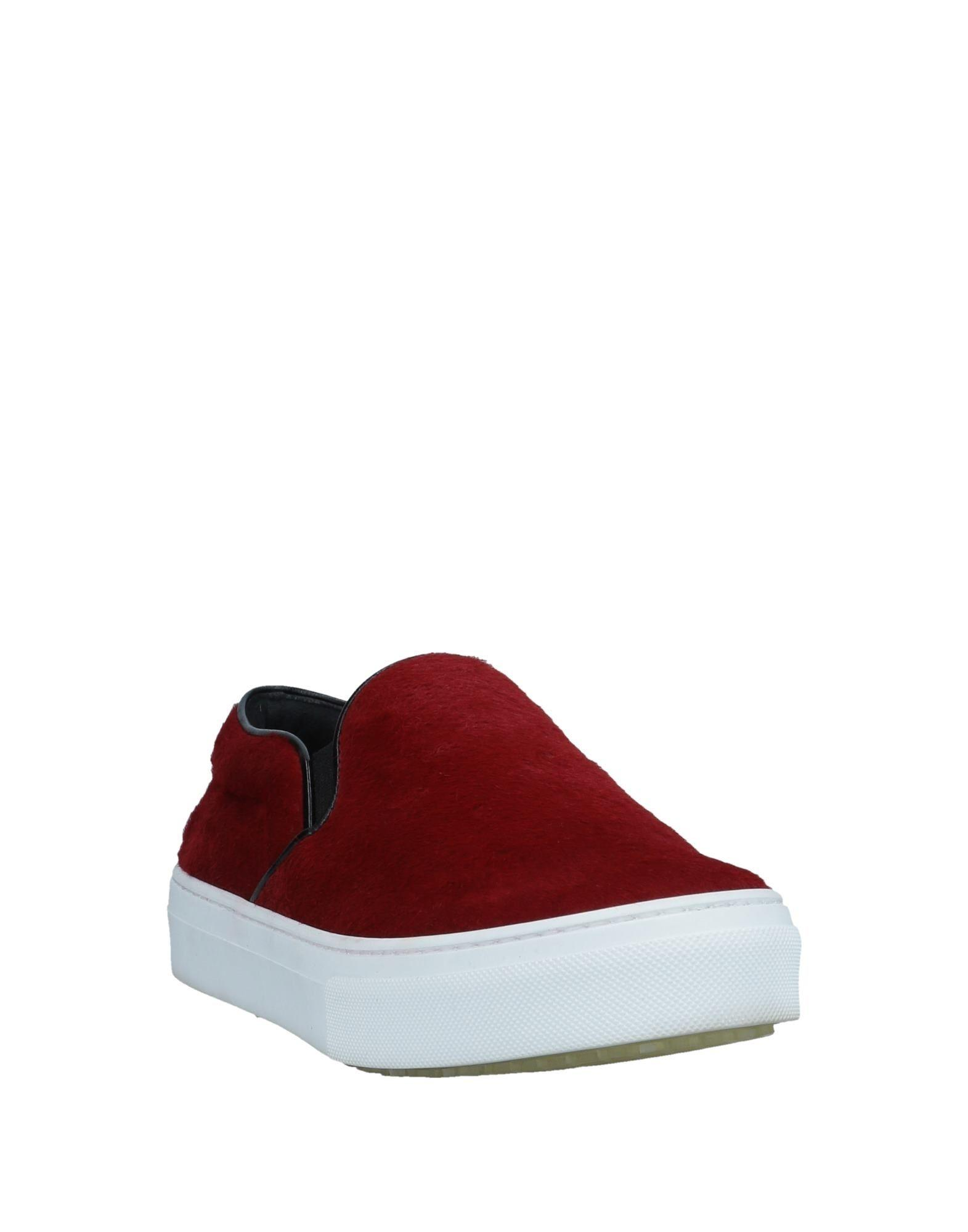 Celine Leather Low-tops & Sneakers in Brick Red (Red)