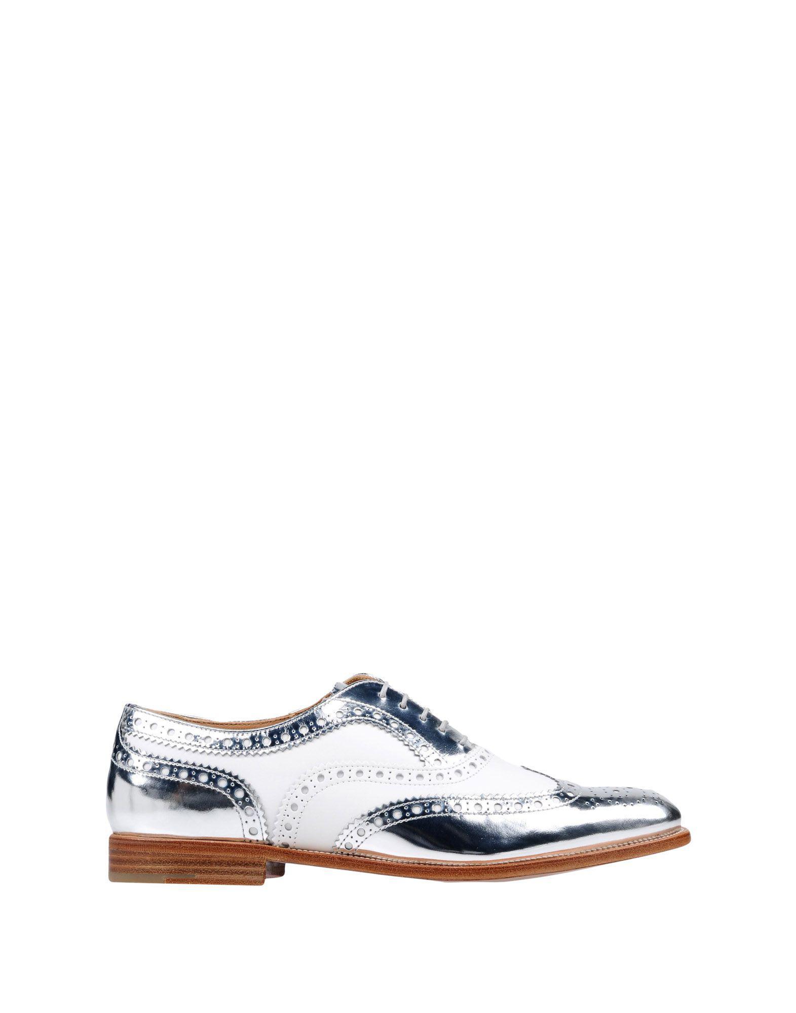 Zapatos de cordones Church's de Cuero de color Metálico