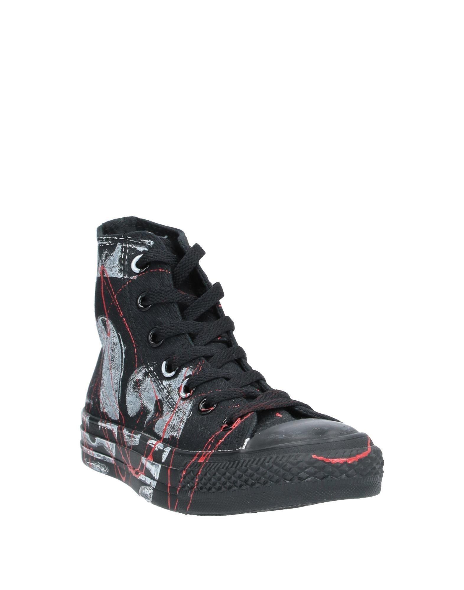 Sneakers abotinadas Converse de Lona de color Negro