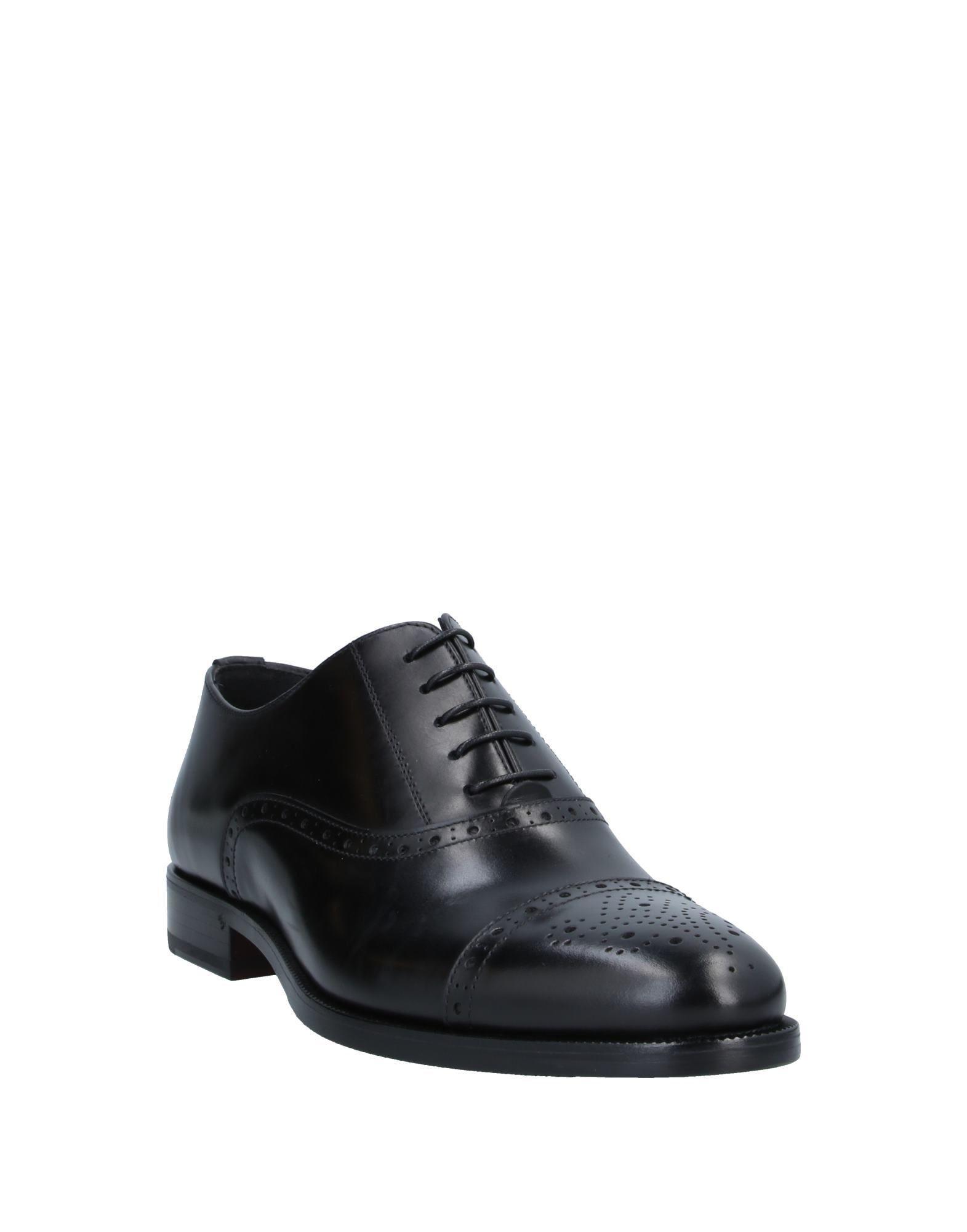 Zapatos de cordones Fabi de Cuero de color Negro para hombre