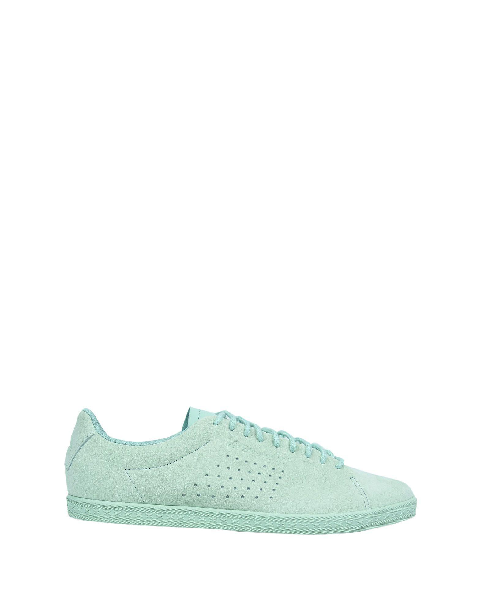 Le Coq Sportif Leather Low-tops & Sneakers in Light Green (Green)