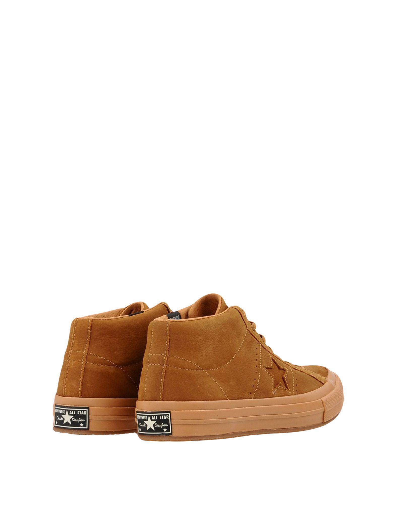 Sneakers abotinadas Converse de Ante de color Marrón para hombre