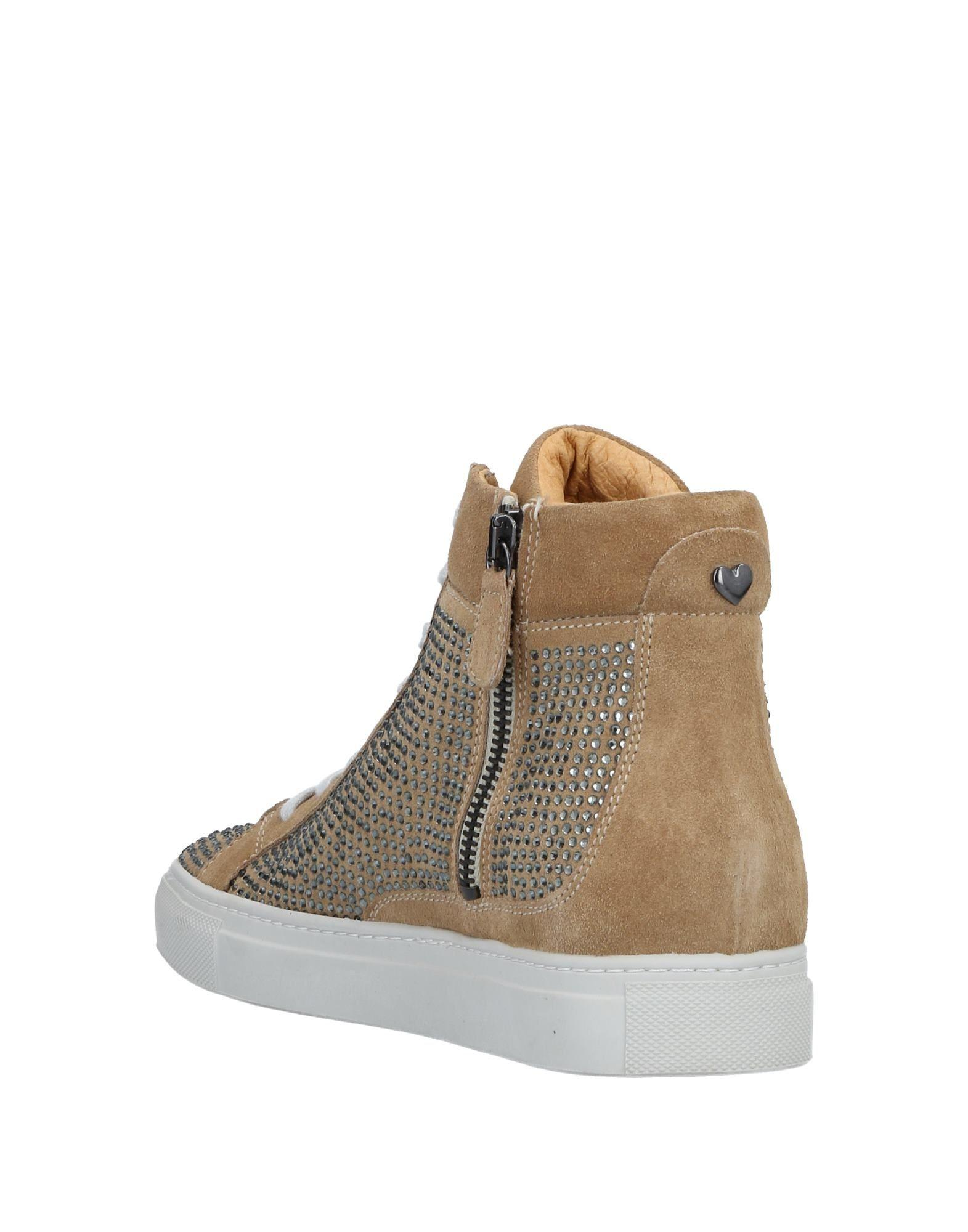 Twin Set Suede High-tops & Sneakers in Khaki (Natural)