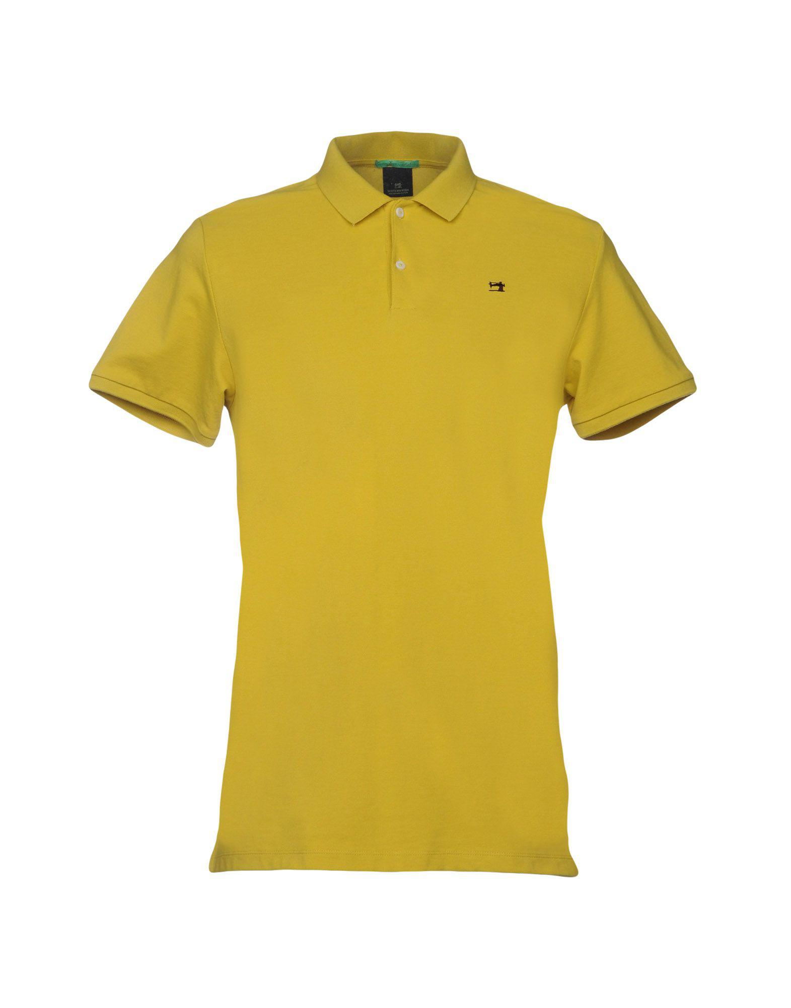 lyst scotch soda polo shirt in yellow for men. Black Bedroom Furniture Sets. Home Design Ideas