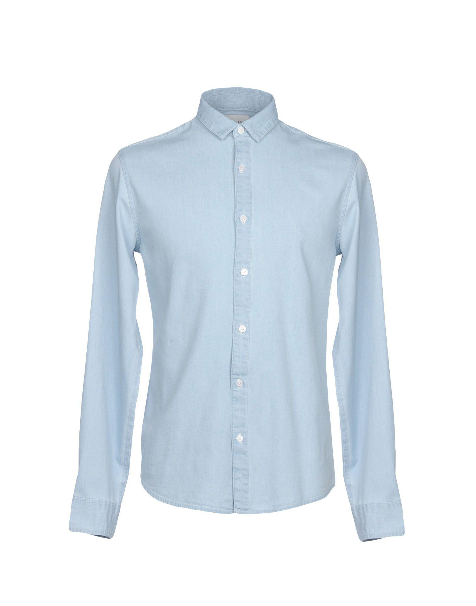 e4261f4f83 Lyst - Only   Sons Denim Shirt in Blue for Men