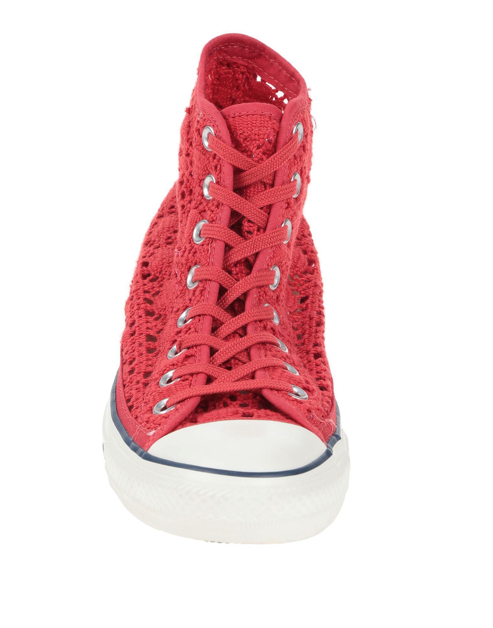 Sneakers abotinadas Converse de color Rojo