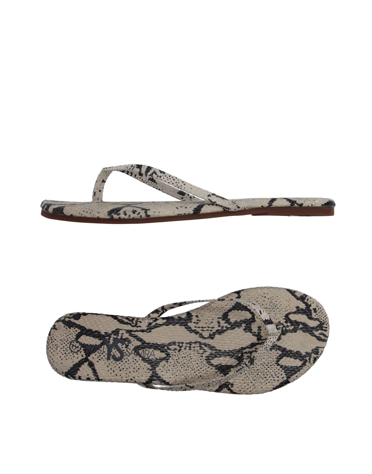 195fbe276affb Yosi Samra Toe Post Sandal in Natural - Lyst
