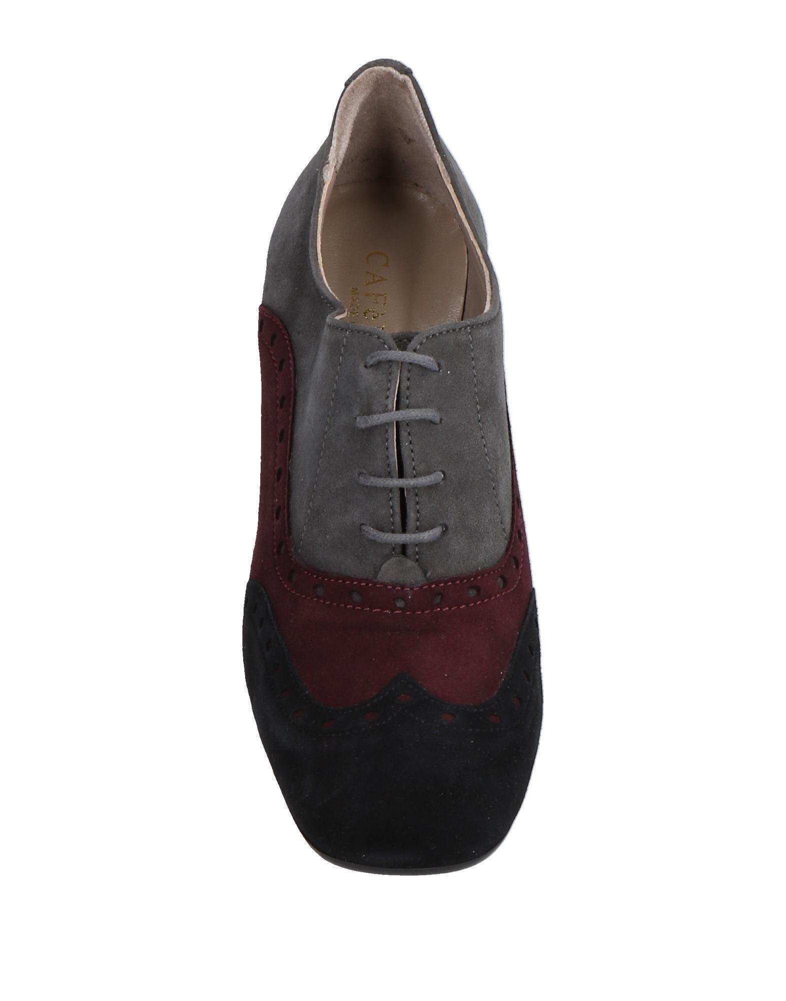 Zapatos de cordones CafeNoir de Ante de color Gris