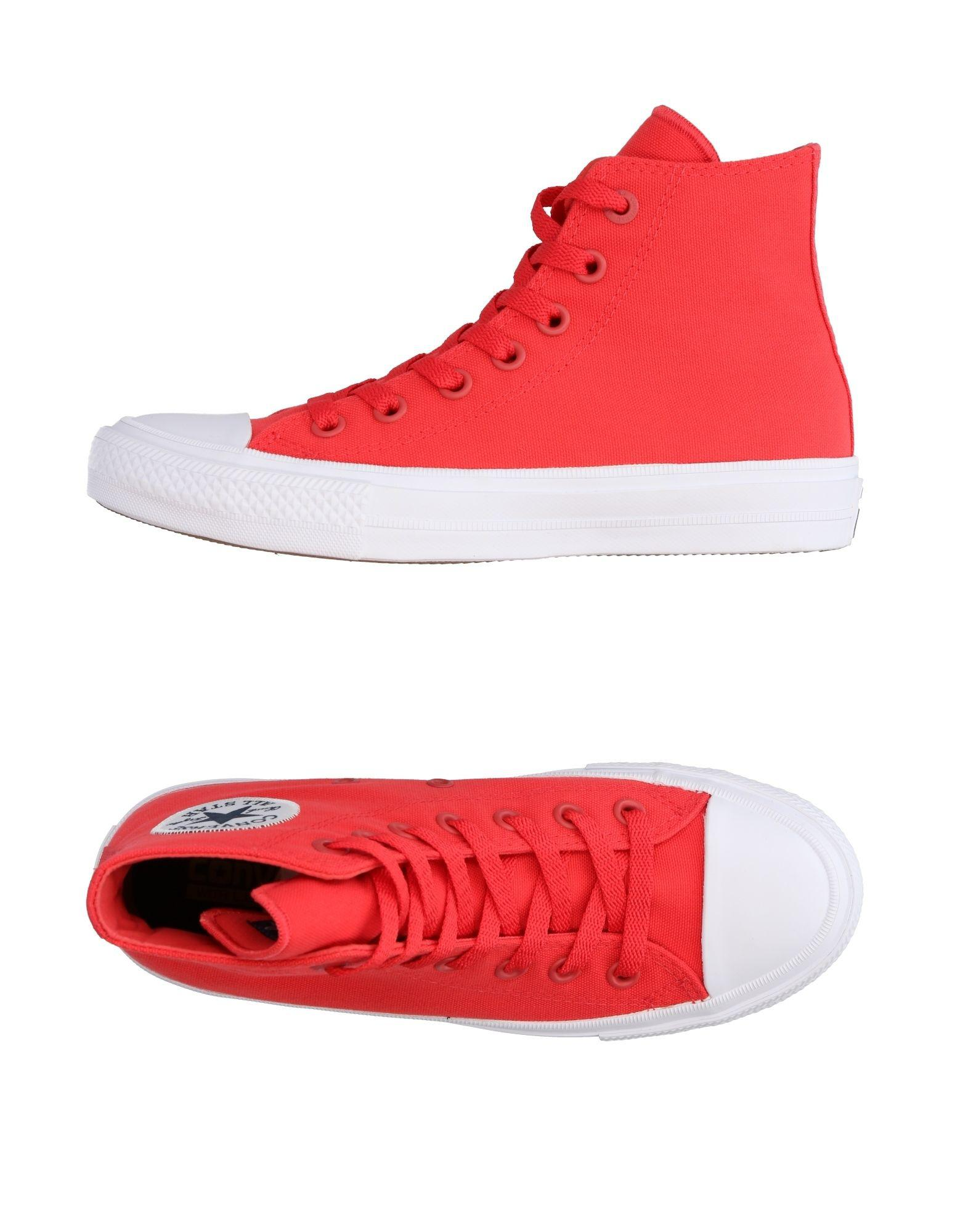 lyst converse hightops amp sneakers in red