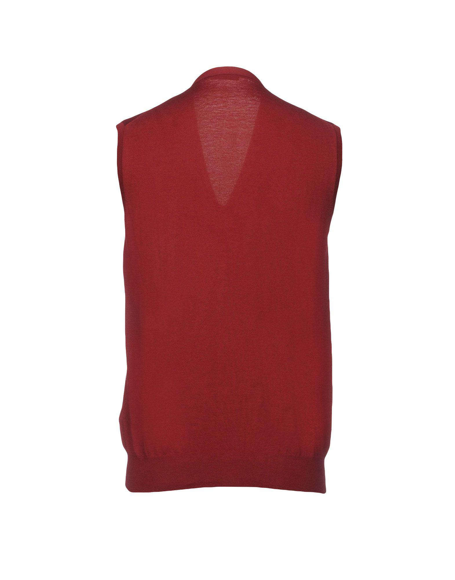 28aa50ce38a39 Lyst - Paolo Pecora Cardigan in Red for Men