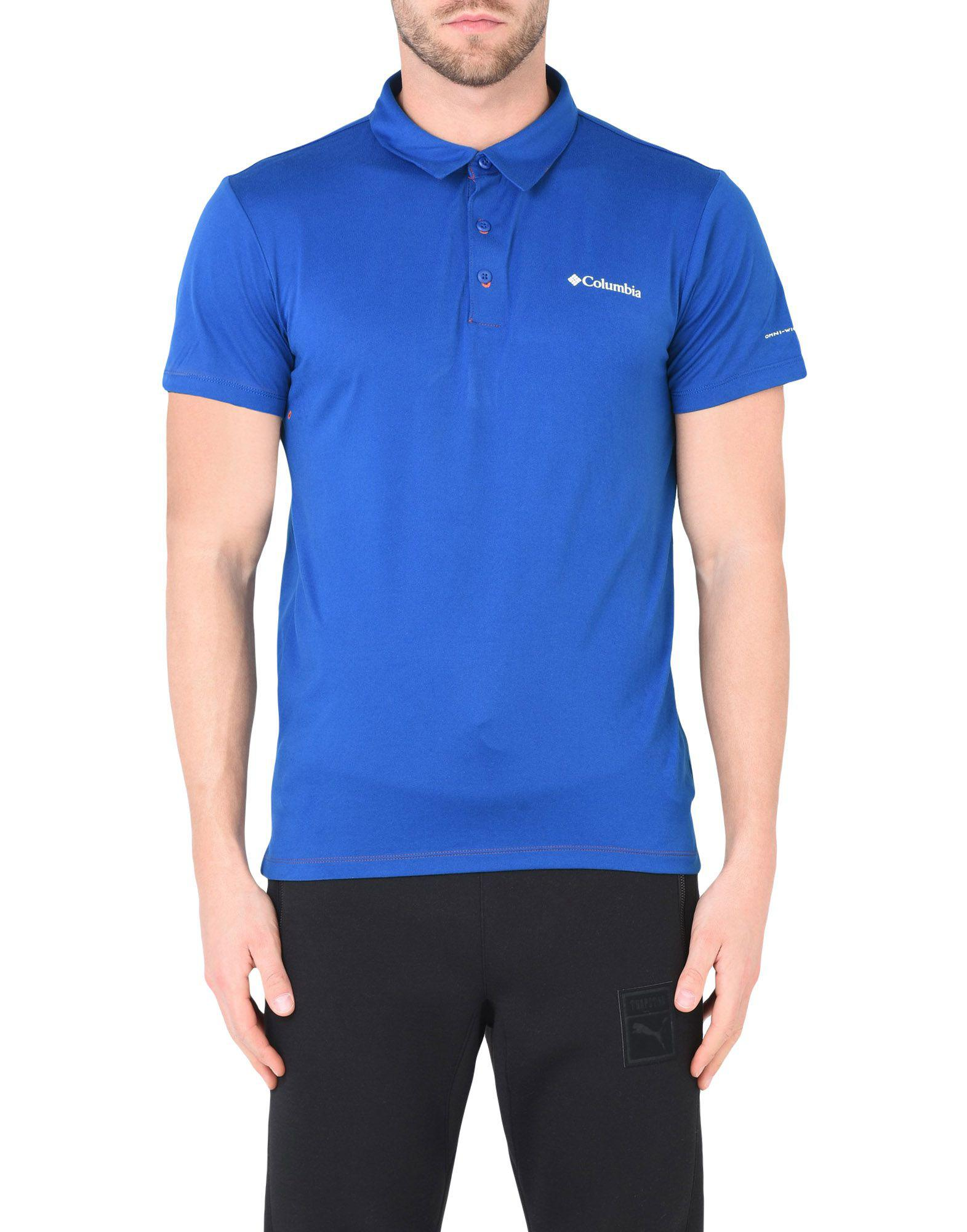Columbia Synthetic Polo Shirt in Blue for Men