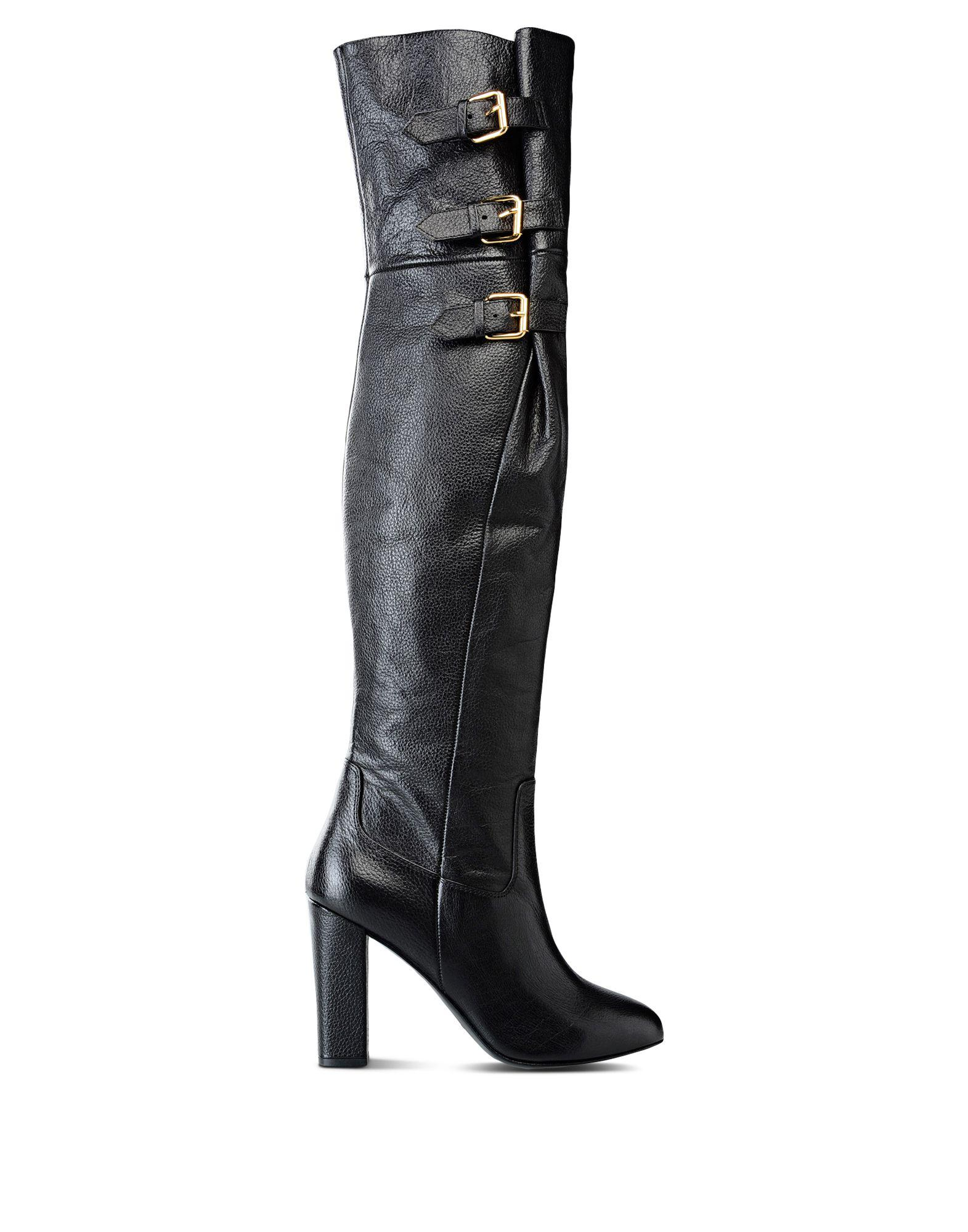 6986f267737 Lyst - Boutique Moschino Buckled Goatskin Knee-High Boots in Black - Save  57.04022988505747%