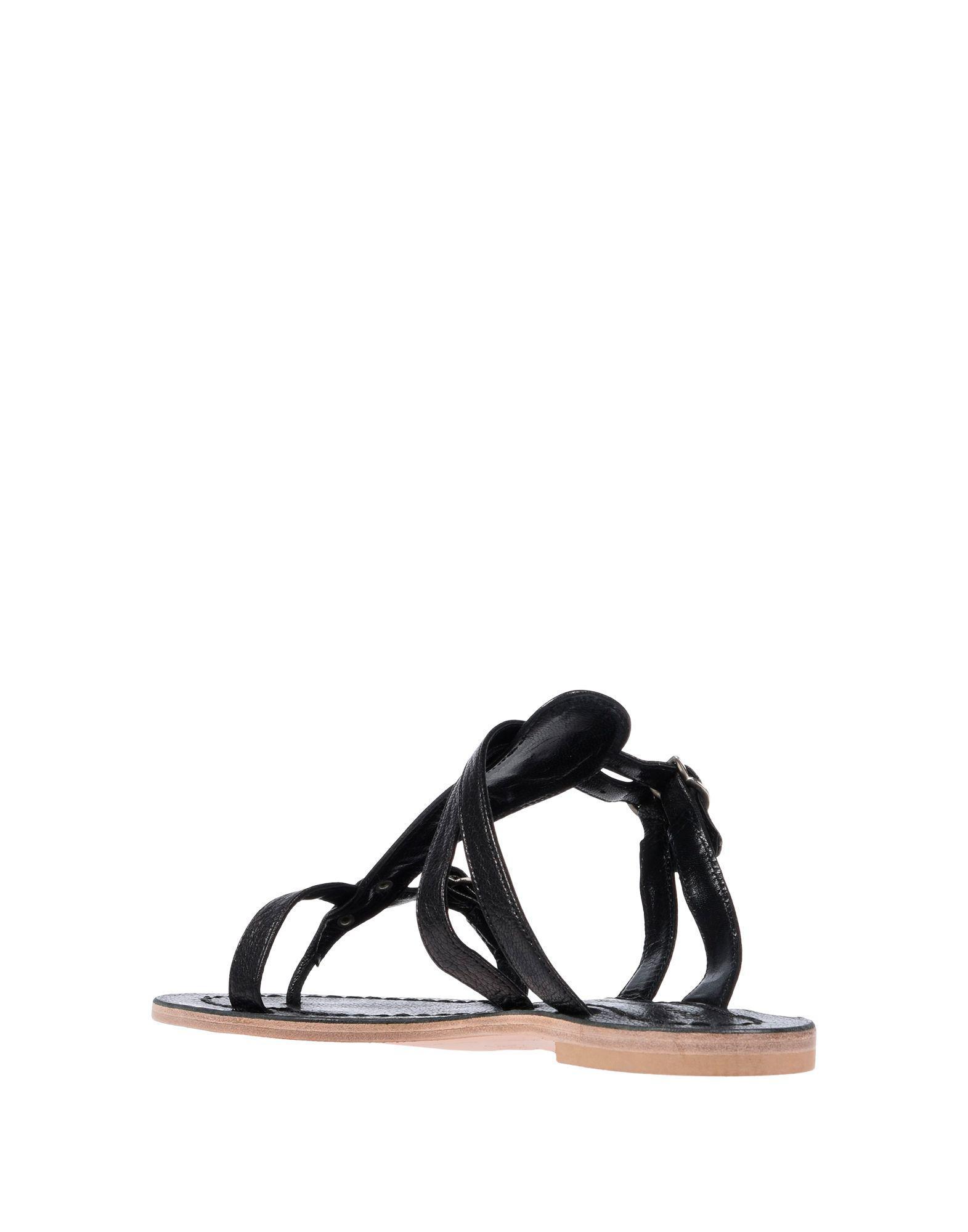 1d108fde24ea Lyst - Sigerson Morrison Toe Strap Sandal in Black
