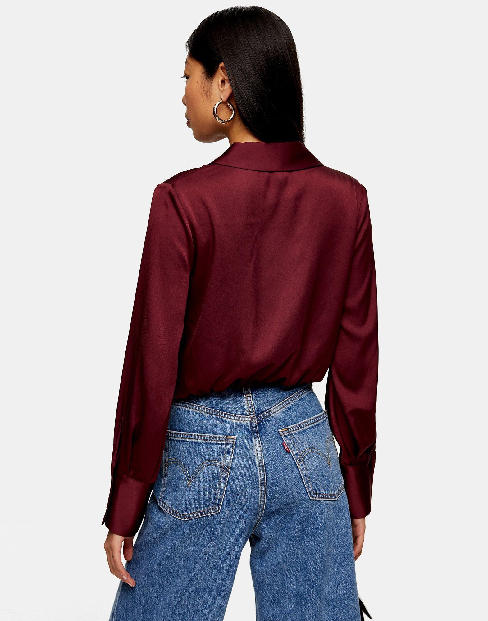 Camisa TOPSHOP de color Rojo