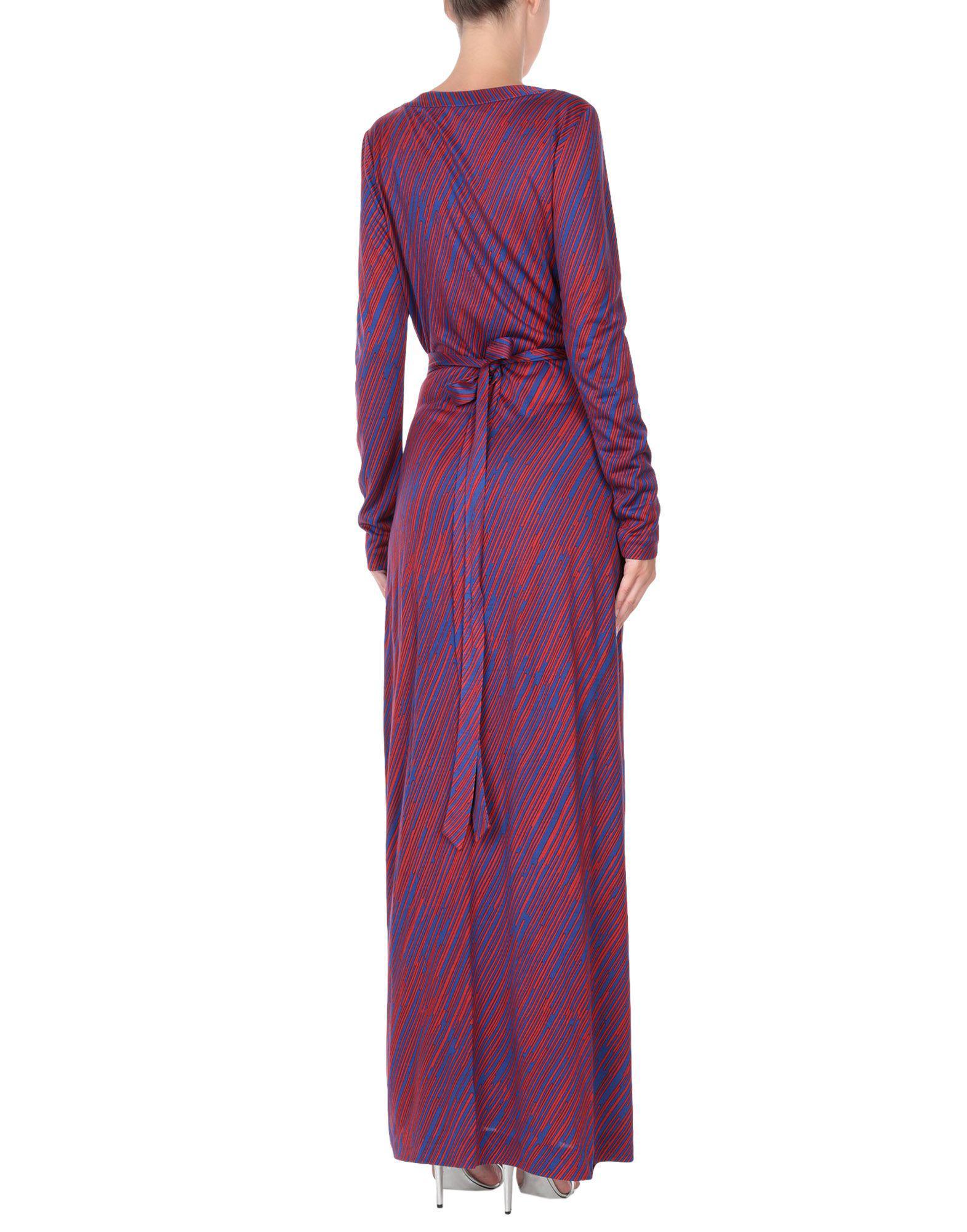 Lyst - Vestido largo Diane von Furstenberg de color Morado 38cedf56eb1e
