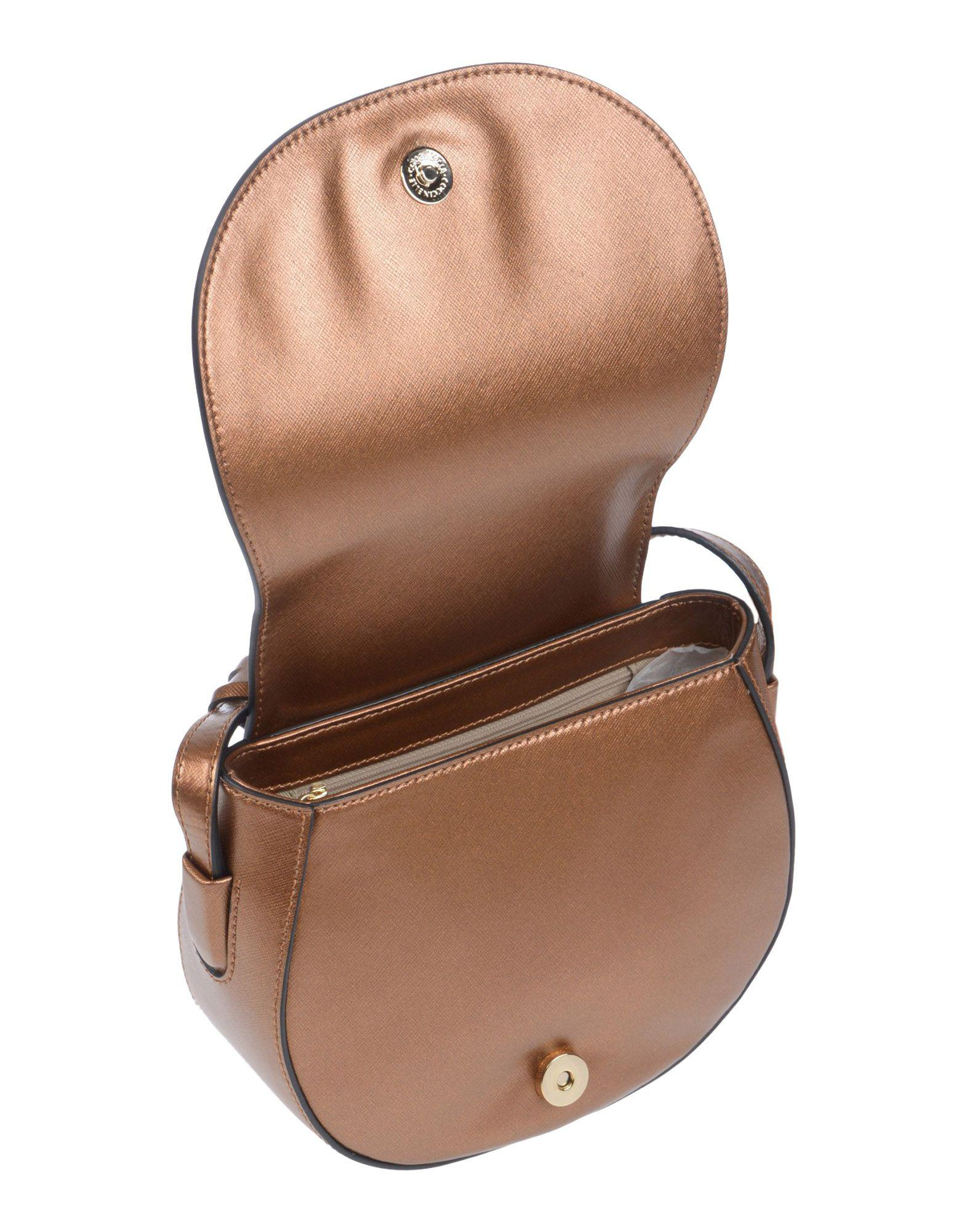 Coccinelle Leather Cross-body Bag in Bronze (Brown)