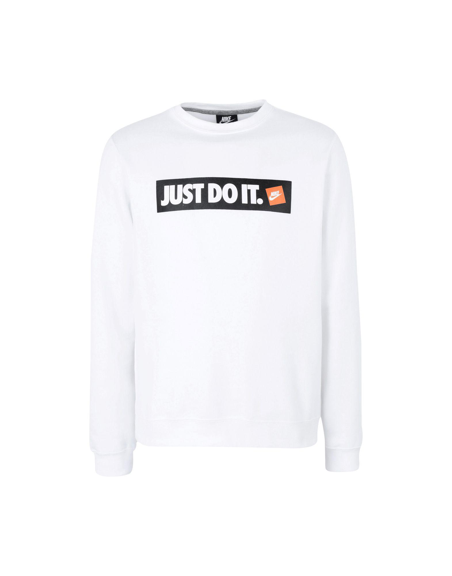 ab6c6831 Nike Just Do It Box Logo Sweatshirt In White 928699-100 in White for Men -  Save 51% - Lyst
