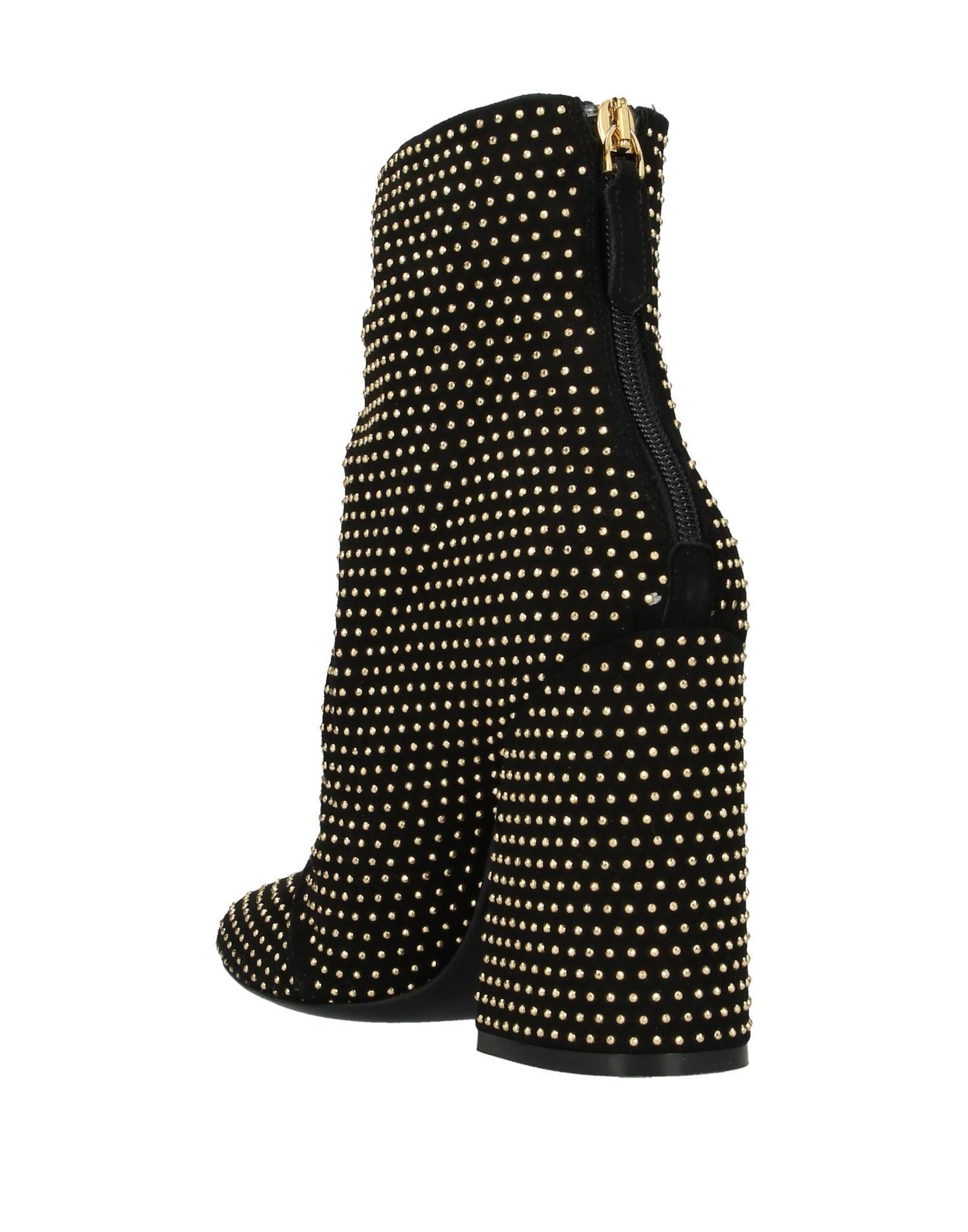 Botines de caña alta Kalliste de Ante de color Negro