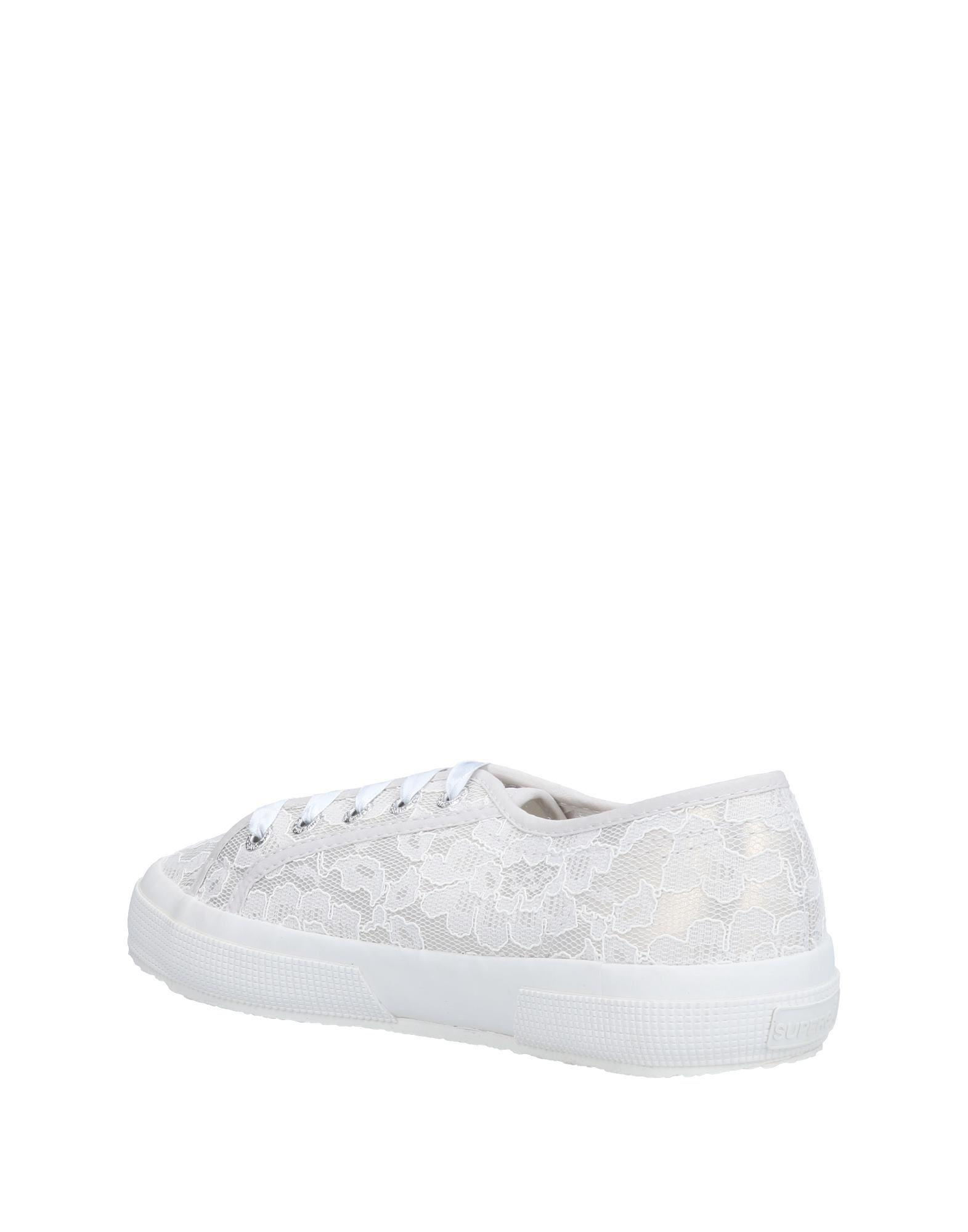 Superga Lace Low-tops & Sneakers in Ivory (White)