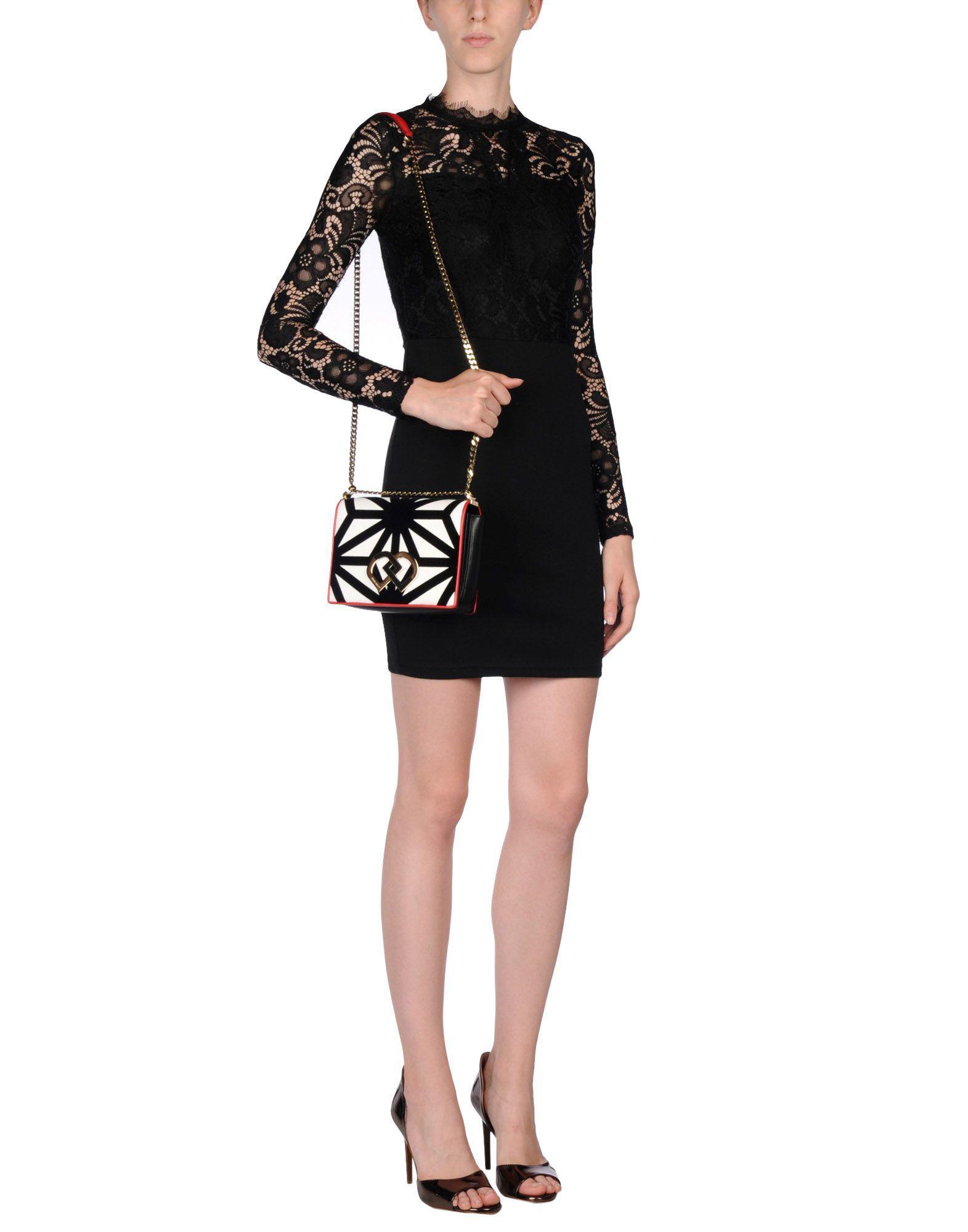 DSquared² Velvet Cross-body Bag in Black