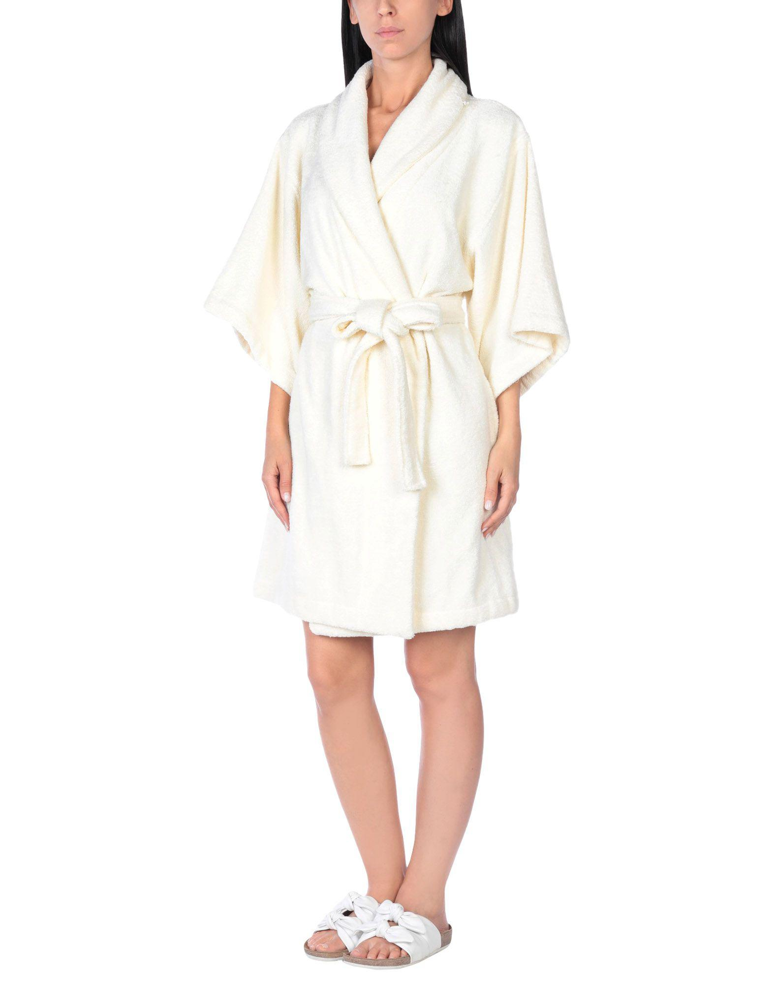 Lisa Marie Fernandez Towelling Dressing Gown In White Lyst